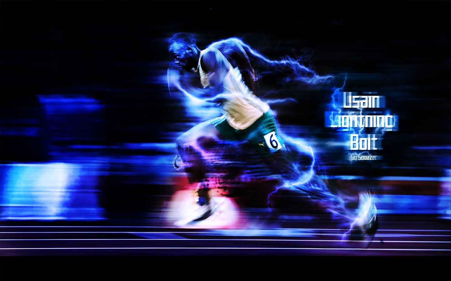 Usain Lightning Bolt by real