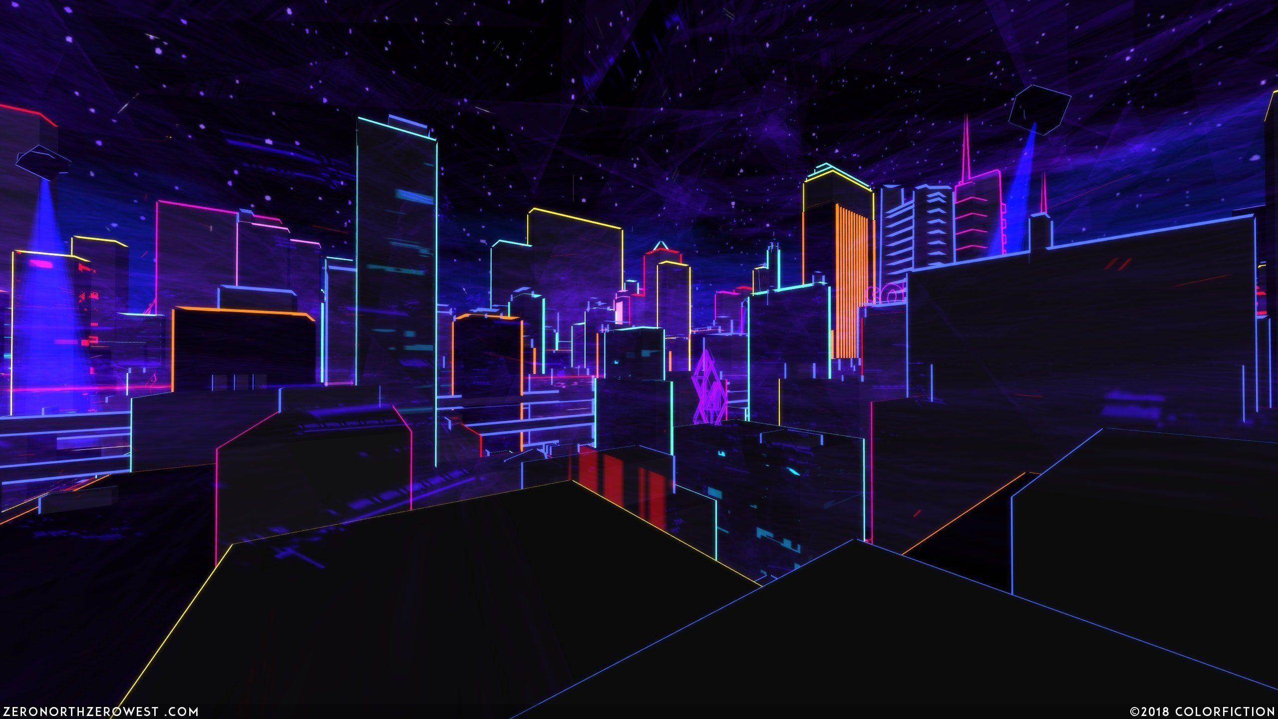hd aesthetic neon city wallpapers