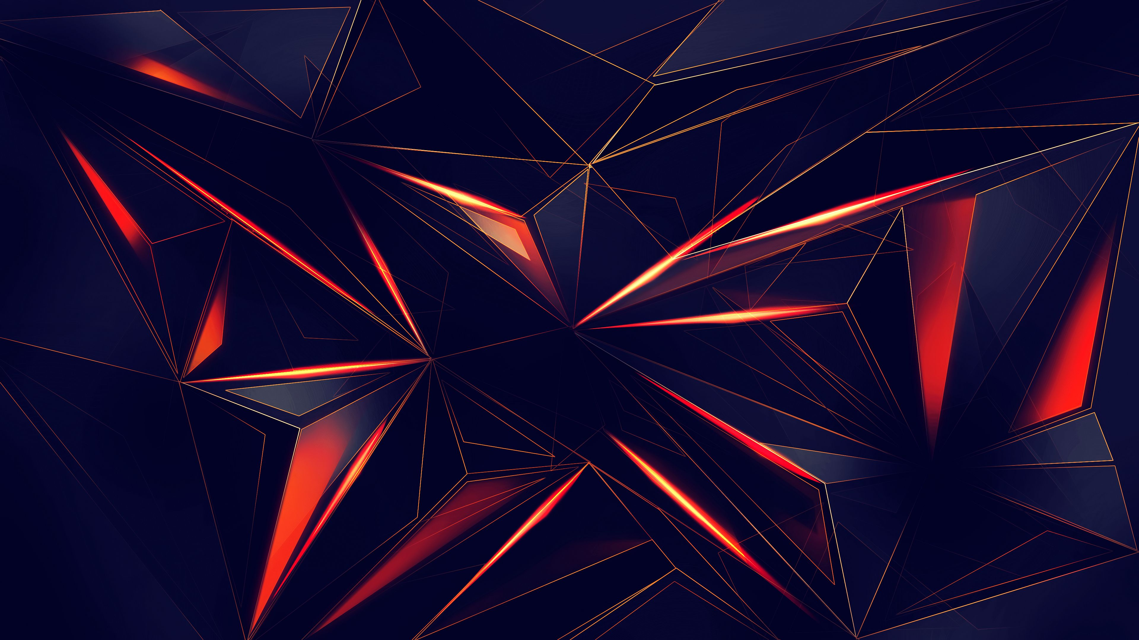 Orange And Blue Geometric Wallpapers - Wallpaper Cave