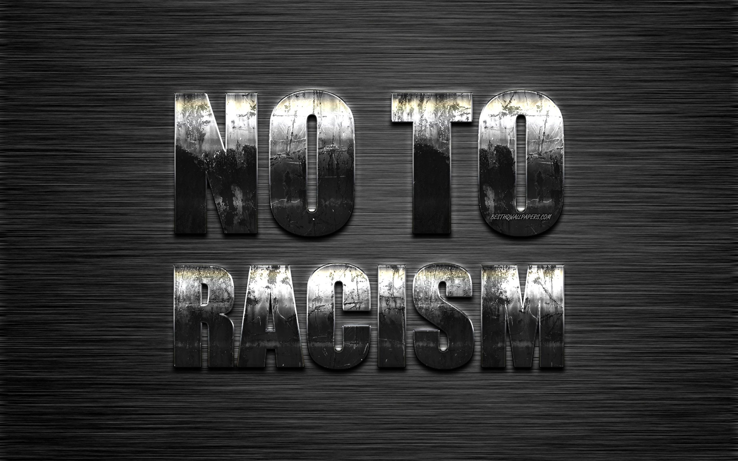 Download wallpapers No to Racism, anti