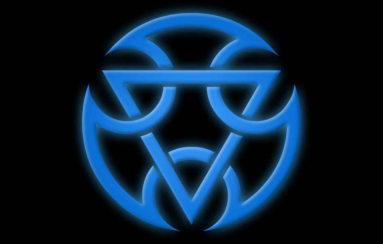 blue mortal kombat logo wallpaper