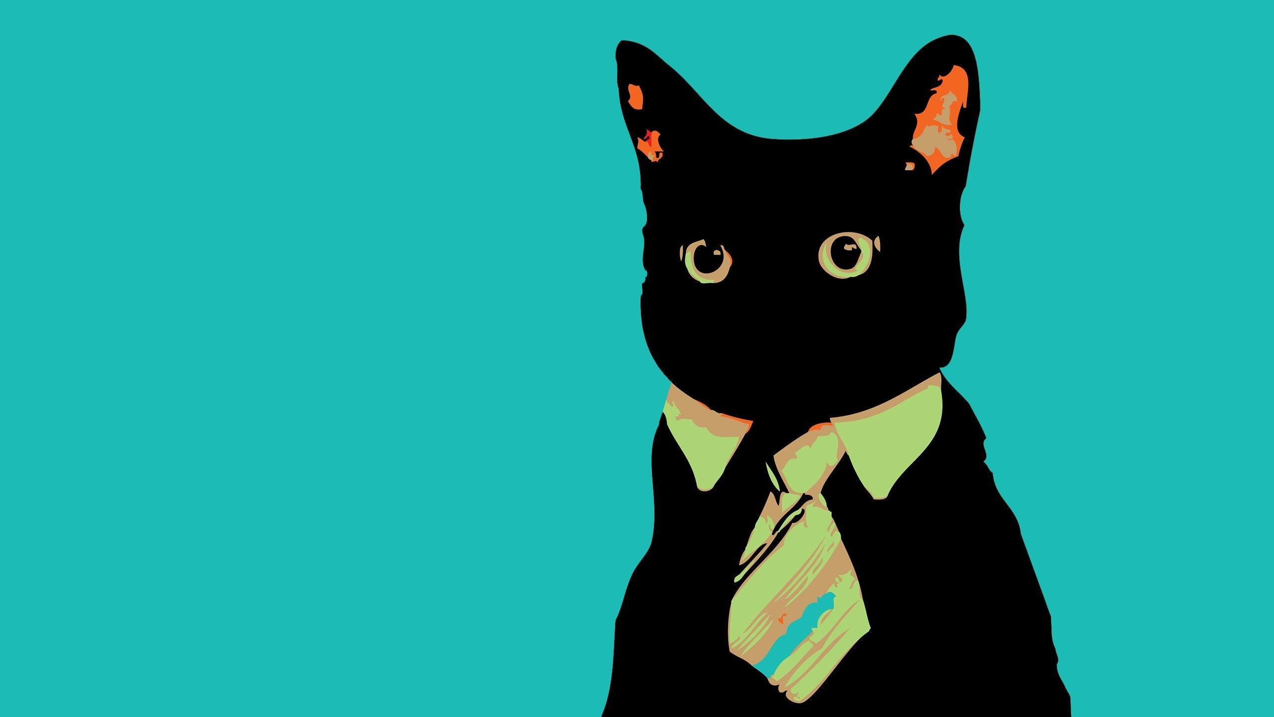 Minimalist Cat Desktop Wallpapers - Wallpaper Cave