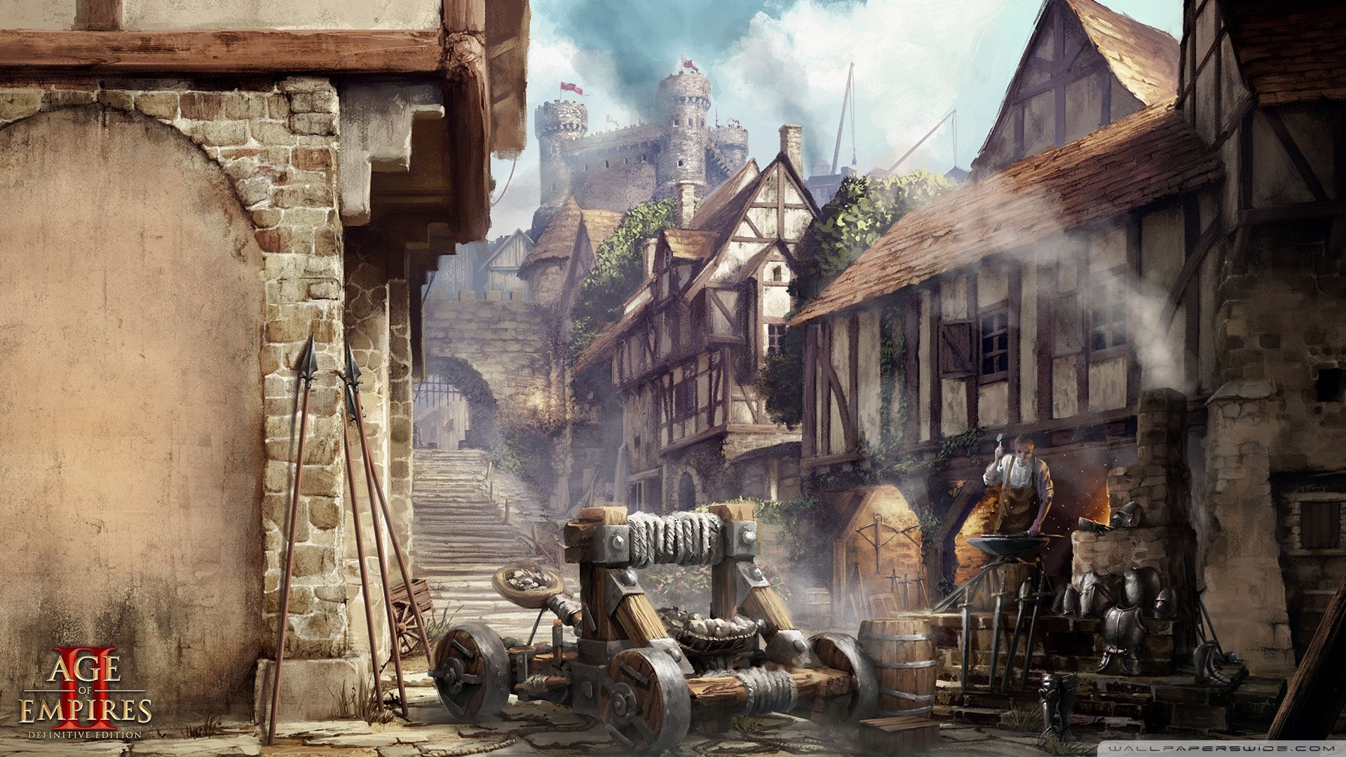 Age Of Empires Ii The Middle Age Siege Wallpapers Wallpaper Cave