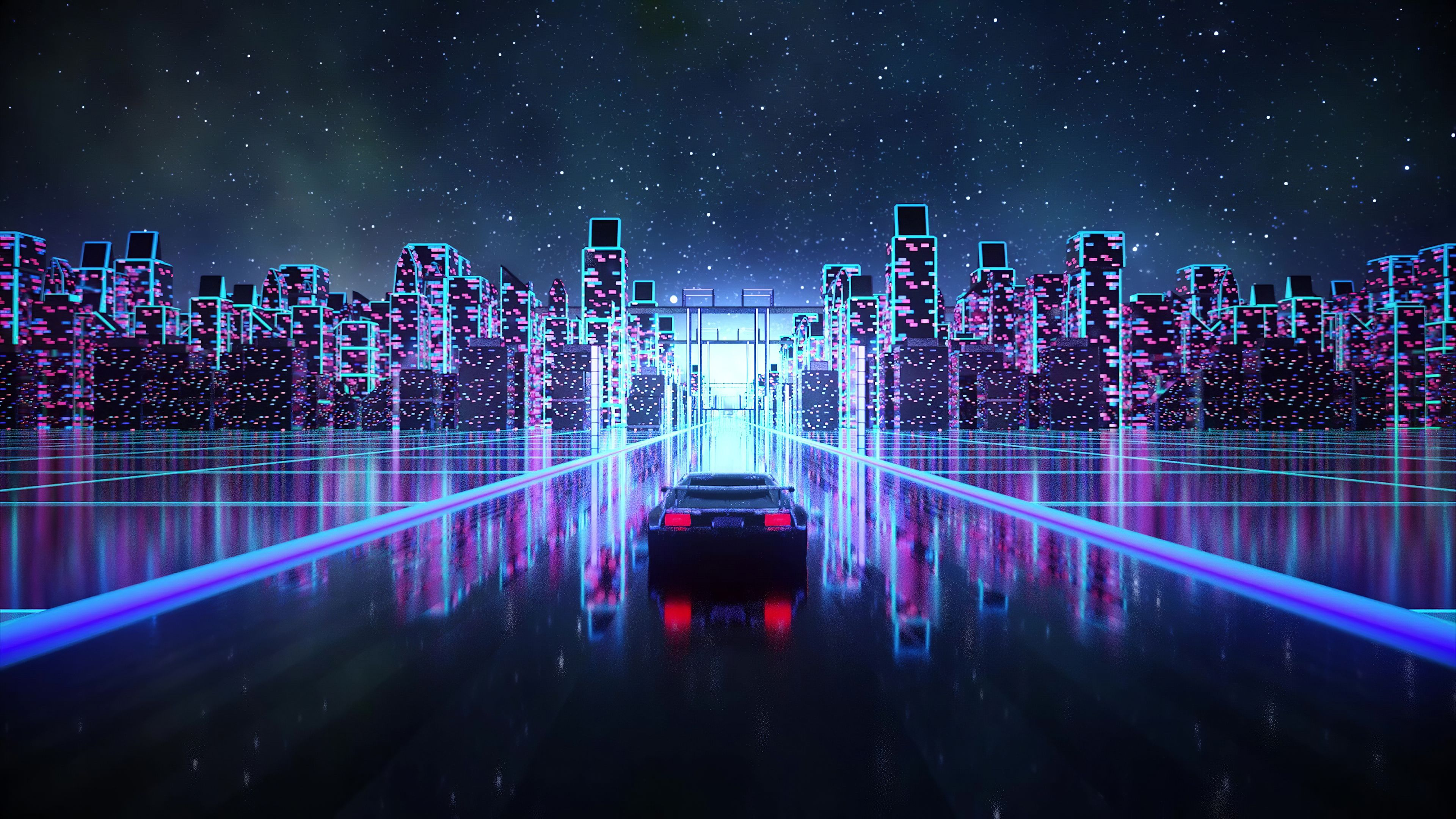 2560x1080 Cyber Outrun Vaporwave Synth Retro Car 4k 2560x1080 Resolution HD 4k Wallpapers, Image, Backgrounds, Photos and Pictures