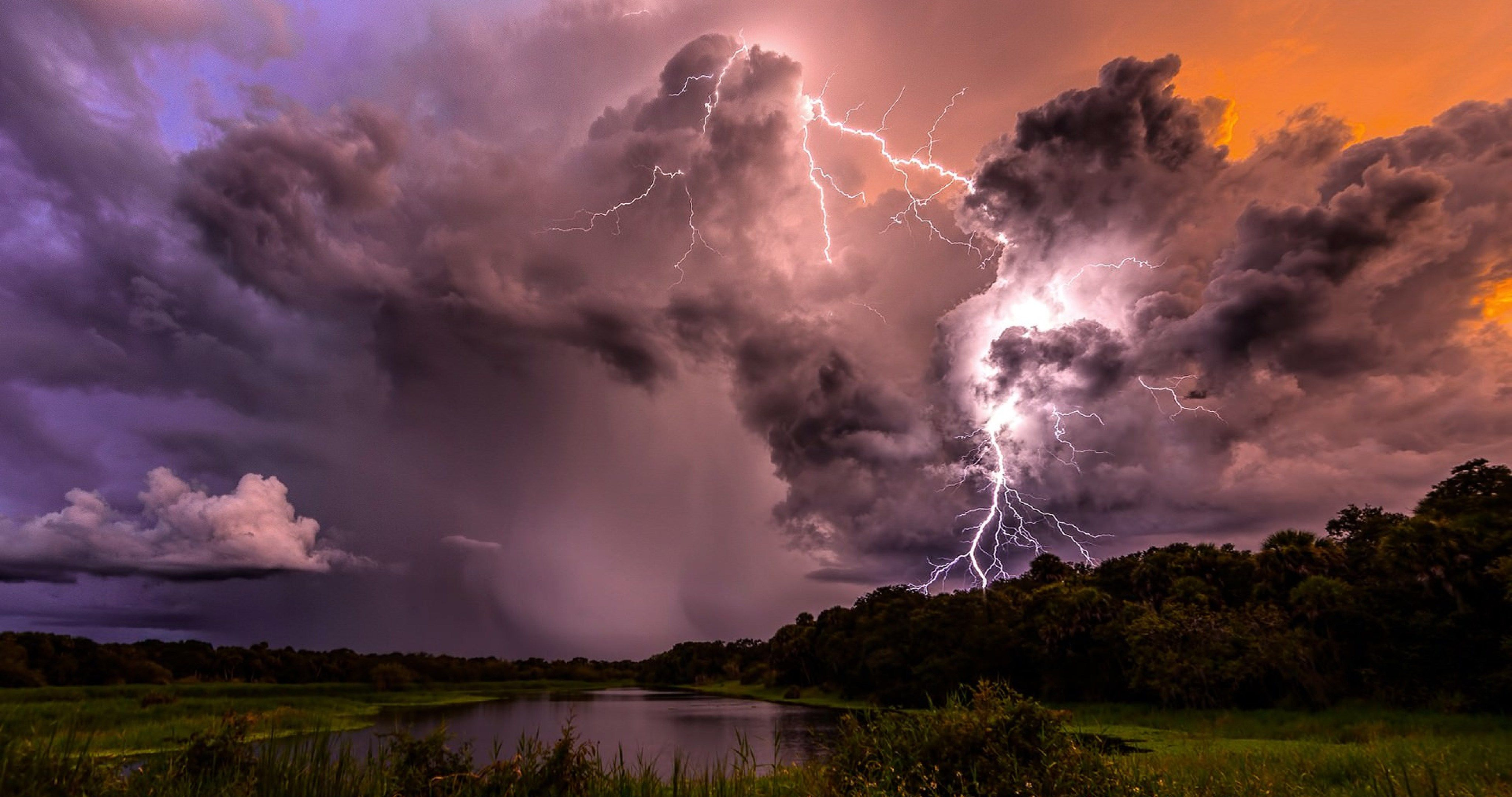 lightning clouds storm 4k ultra hd wallpapers