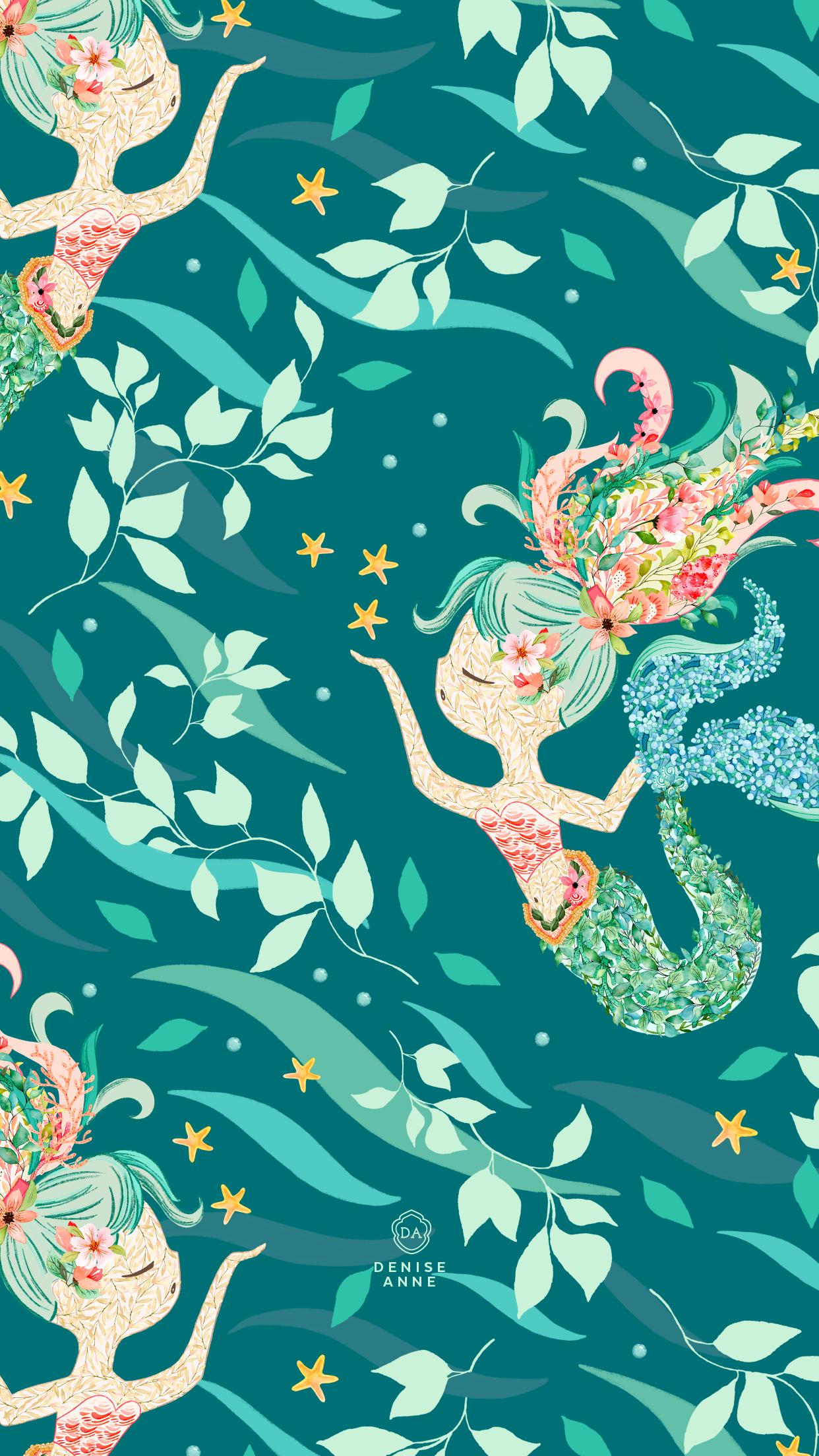 Mermaid Iphone Wallpapers Wallpaper Cave