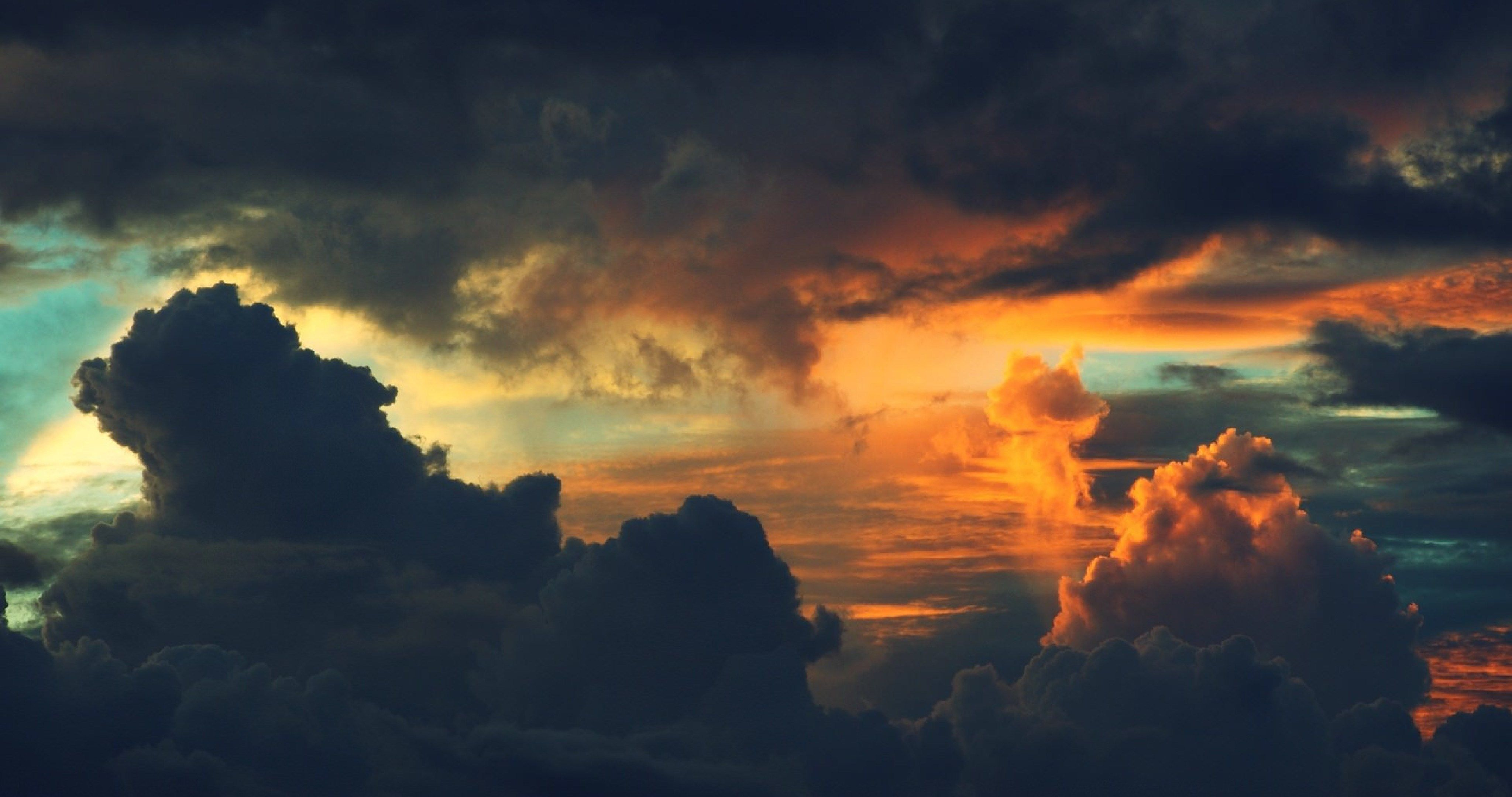 sunset clouds 4k ultra hd wallpapers » High quality walls