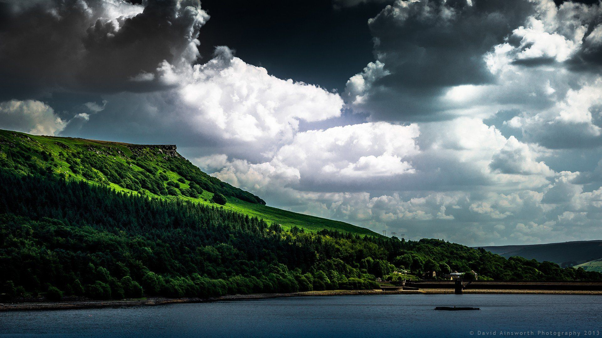 mountain, Nature, Landscape, Cloud, Lake, Tree, Reflection, River