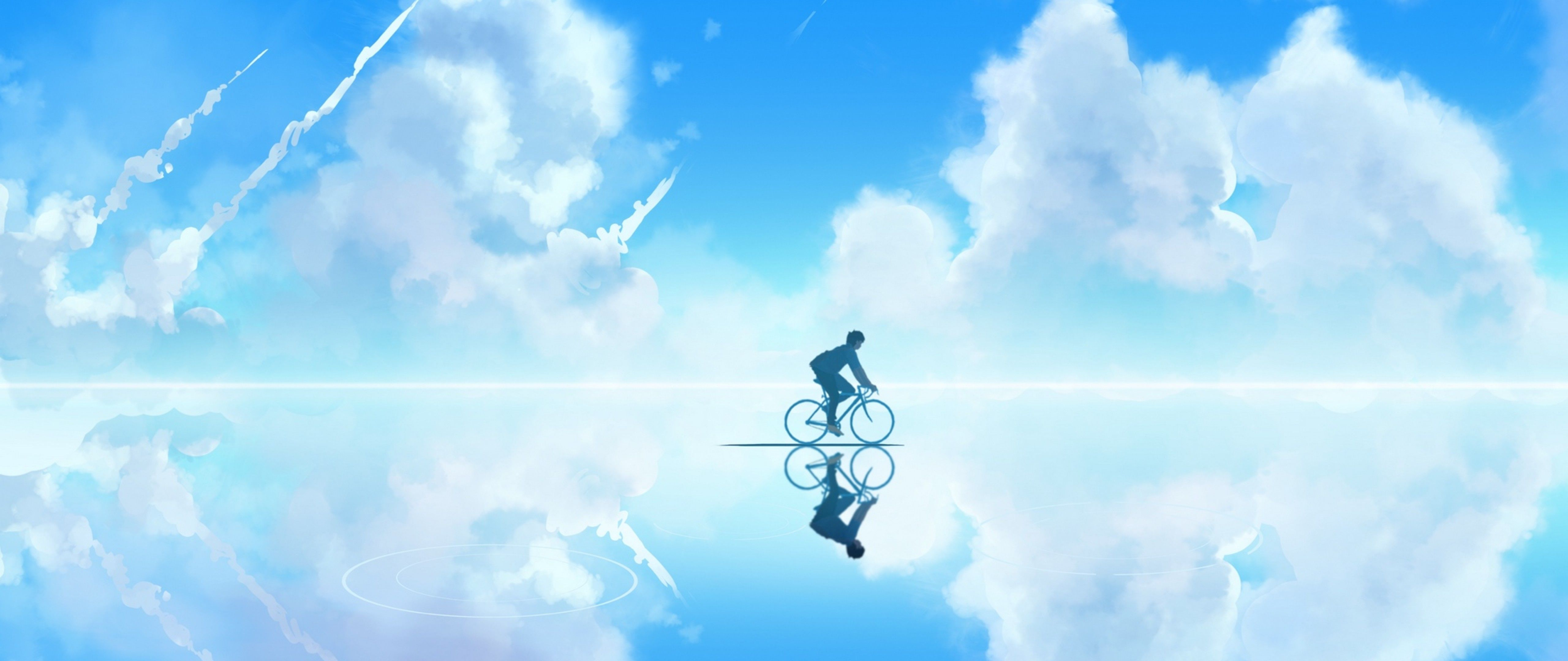 Cycling through clouds HD Wallpapers 4K Ultra HD Wide TV