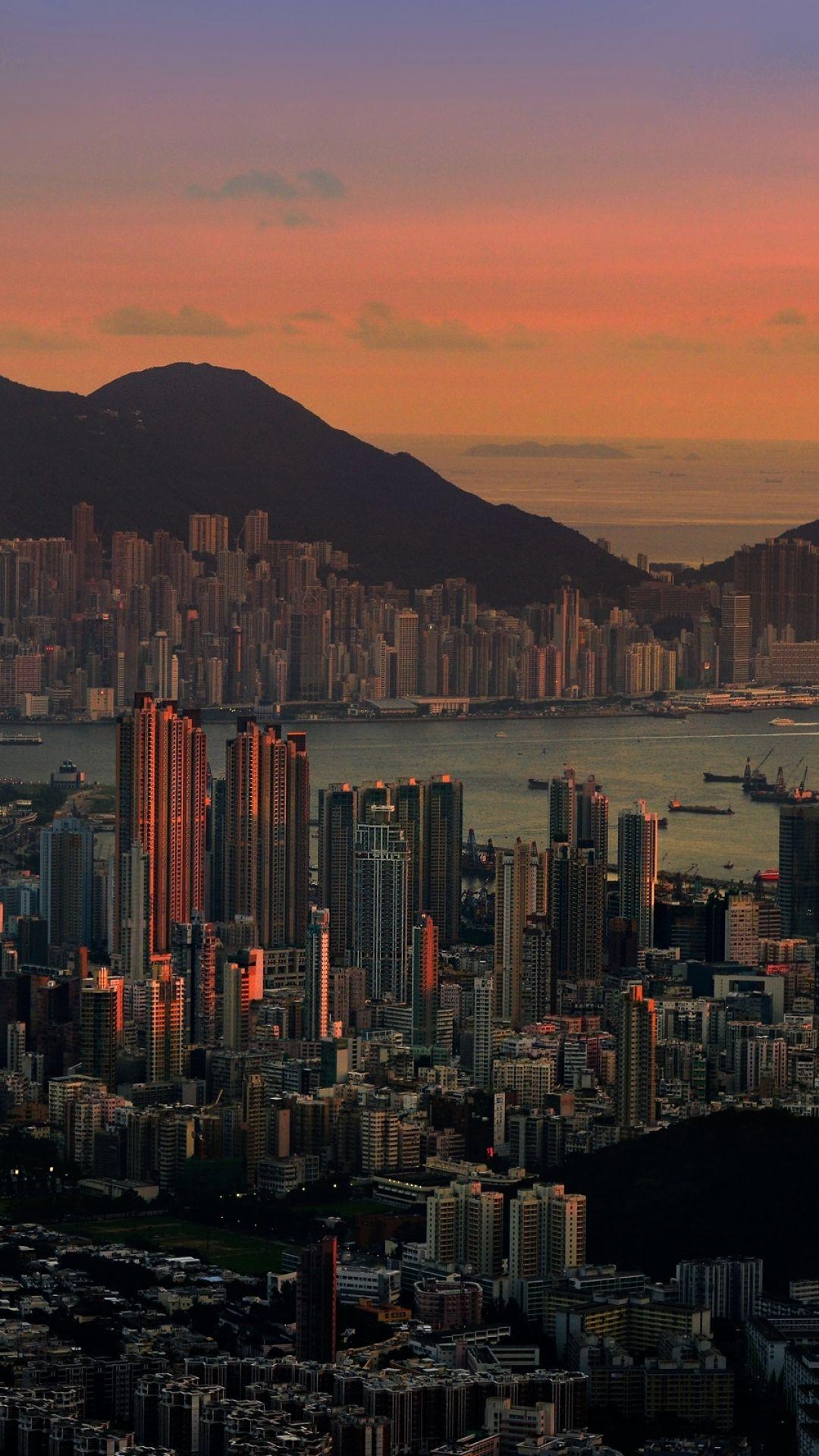 Hong Kong City Sunset 4K Wallpapers - Wallpaper Cave