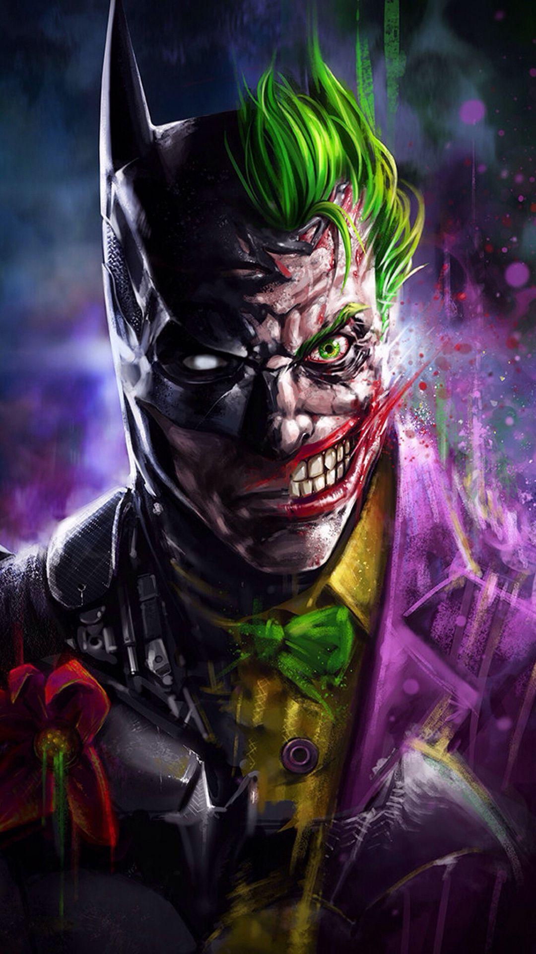Batman And Joker Face Art Wallpapers - Wallpaper Cave