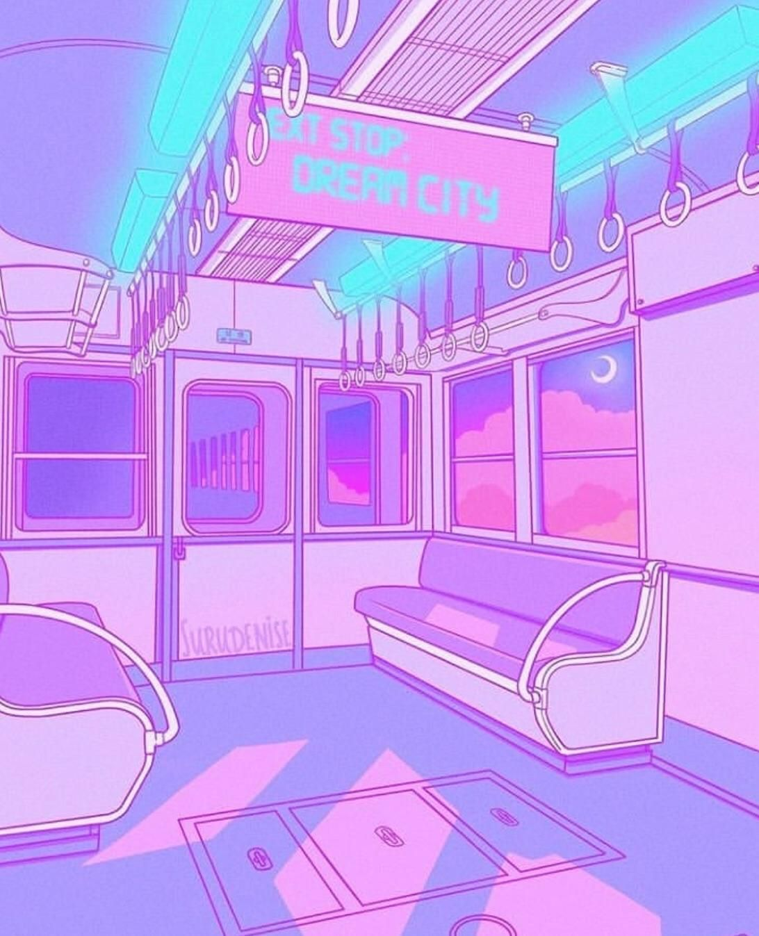 Purple Aesthetic Anime Wallpapers - Wallpaper Cave