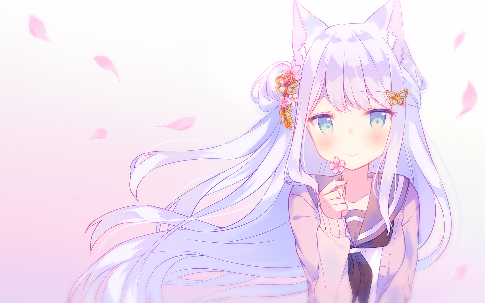 Cute Anime Cat Girl Wallpapers - Wallpaper Cave
