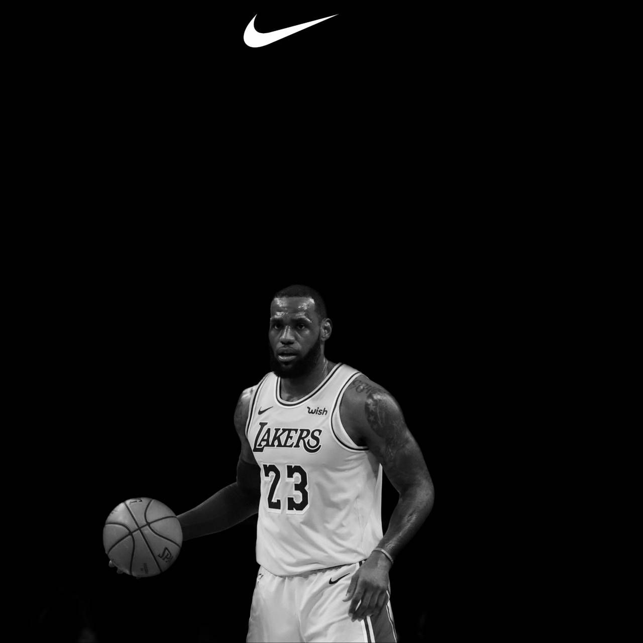 Lebron James Logo Black And White Wallpapers Wallpaper Cave