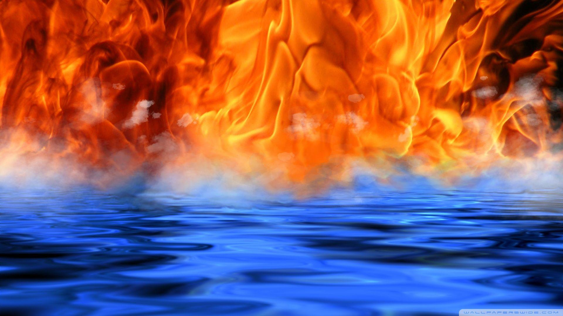 Fire And Water Wallpaper Backgrounds Wallpaper Cave