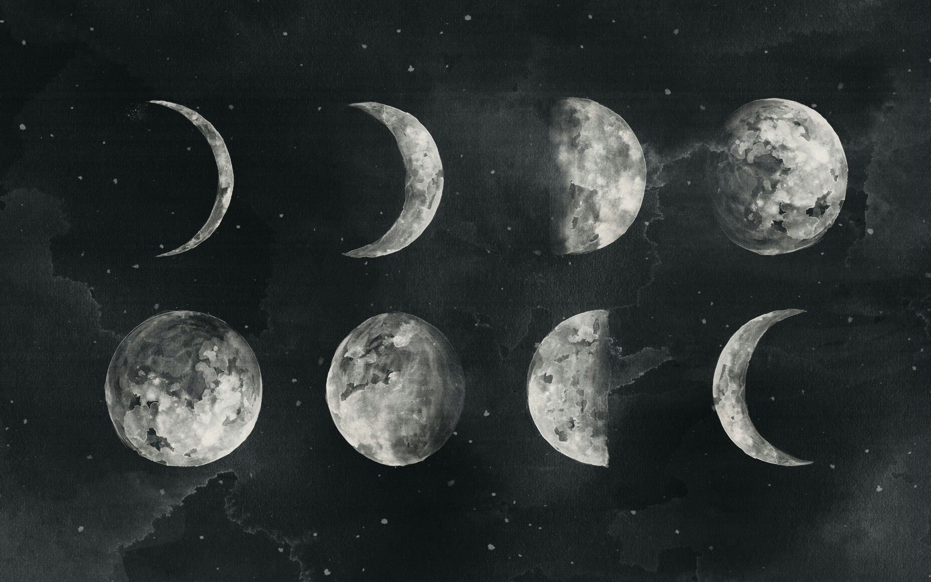 Laptop Aesthetic Moon Wallpapers Wallpaper Cave