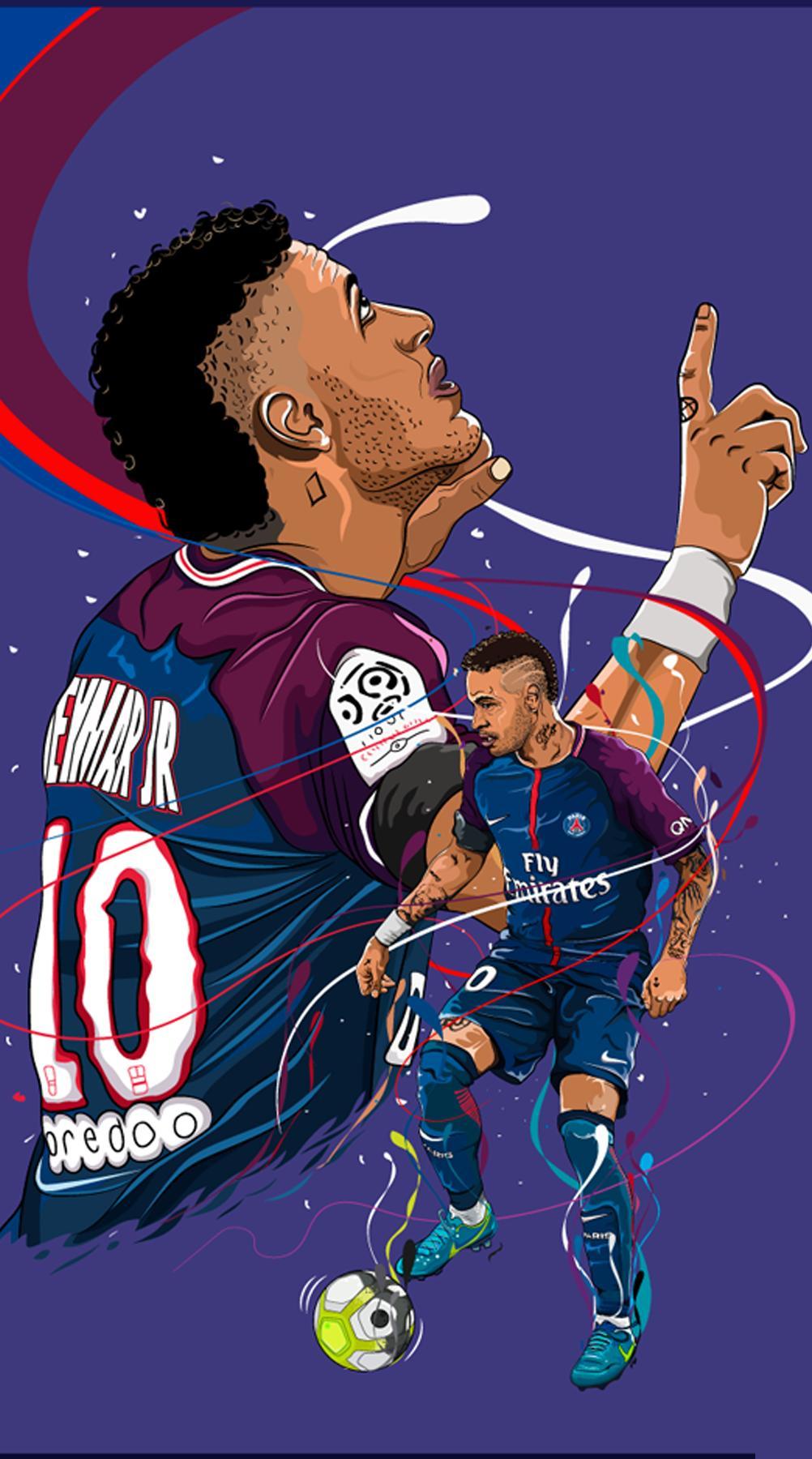 Neymar Cartoon Wallpapers - Wallpaper Cave