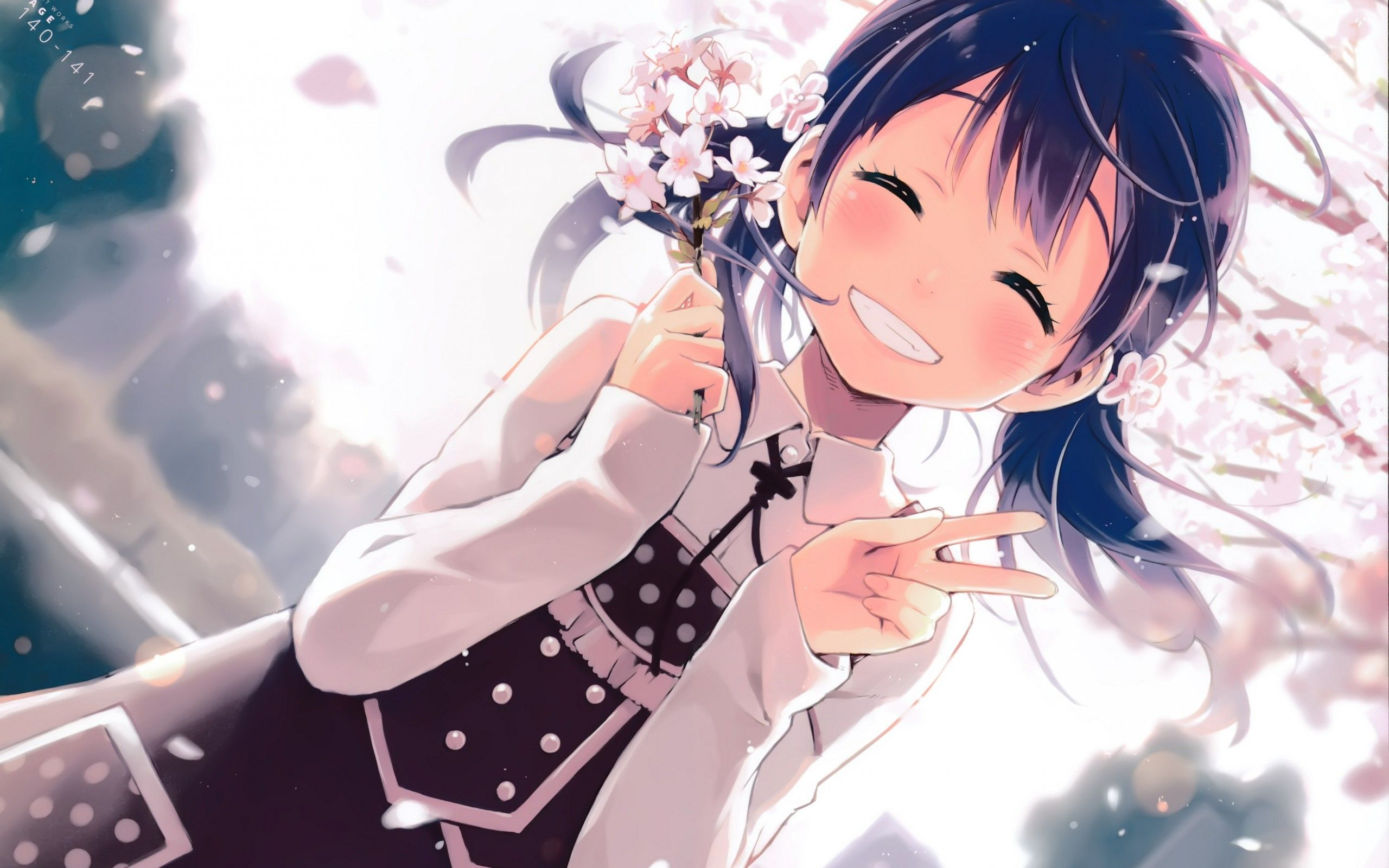 Anime Girl Smiling Wallpapers - Wallpaper Cave