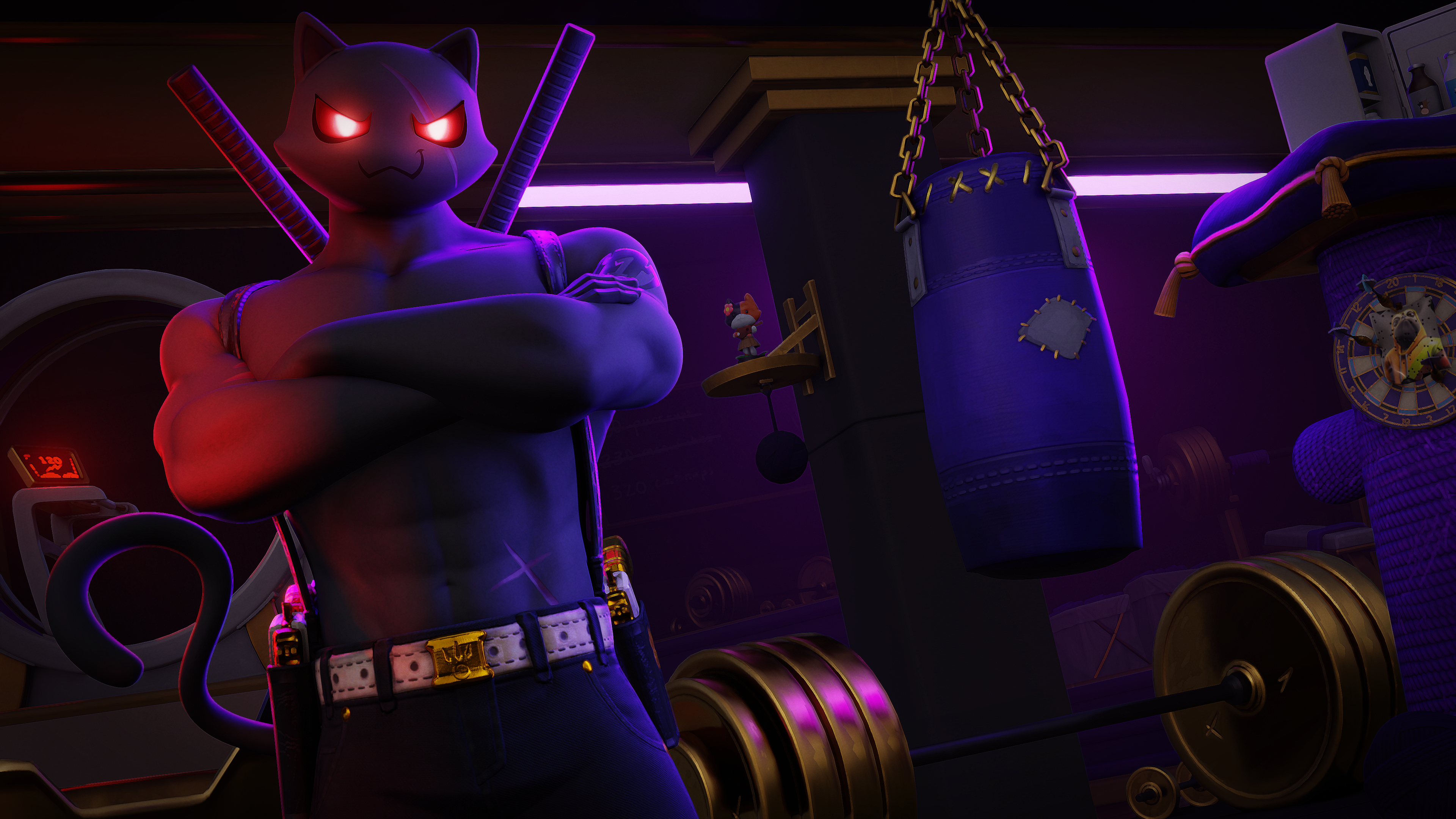 Fortnite Shadow Meowscles Wallpapers Wallpaper Cave