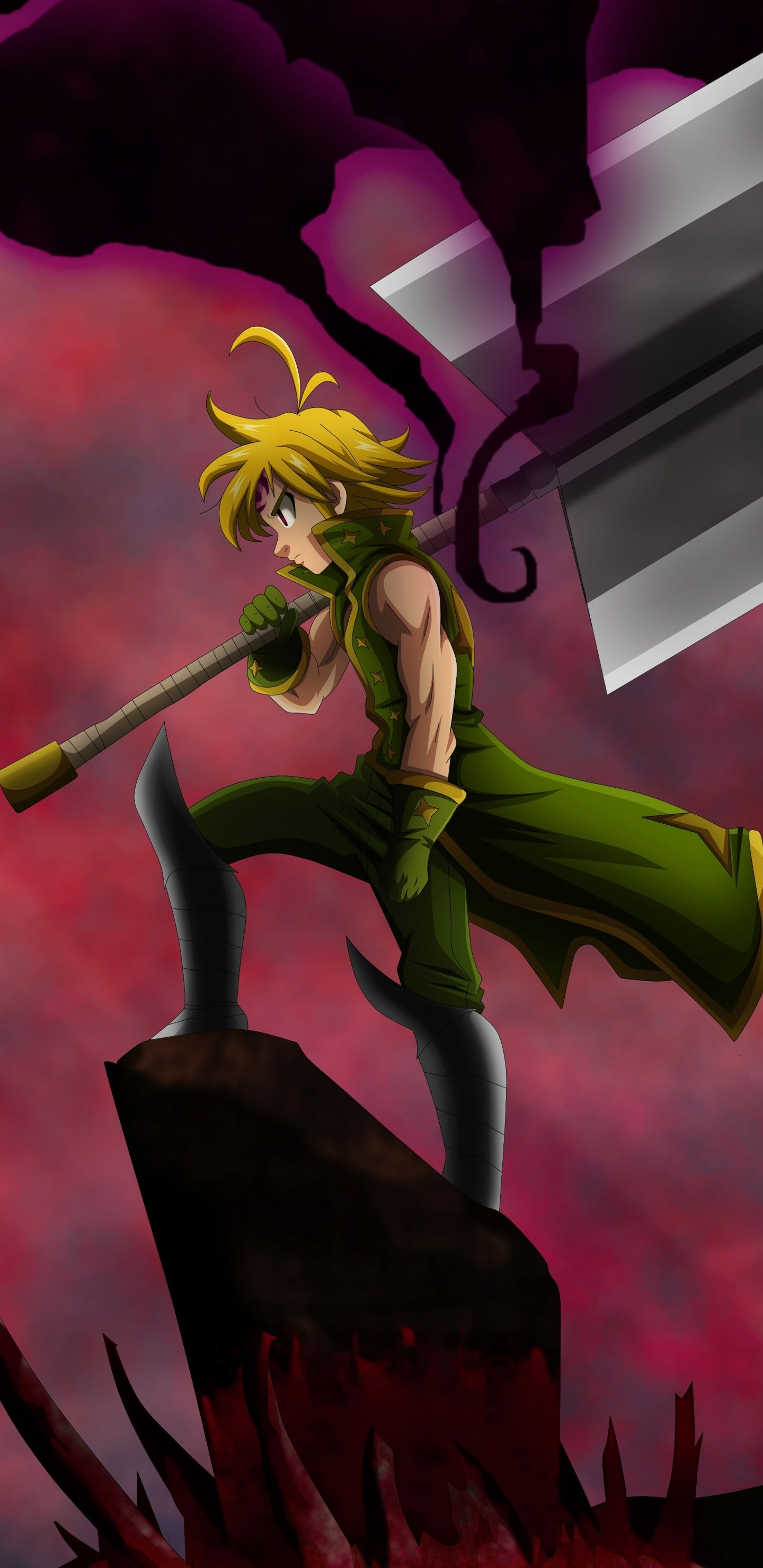 Download 1440x2960 wallpapers meliodas, the seven deadly sins