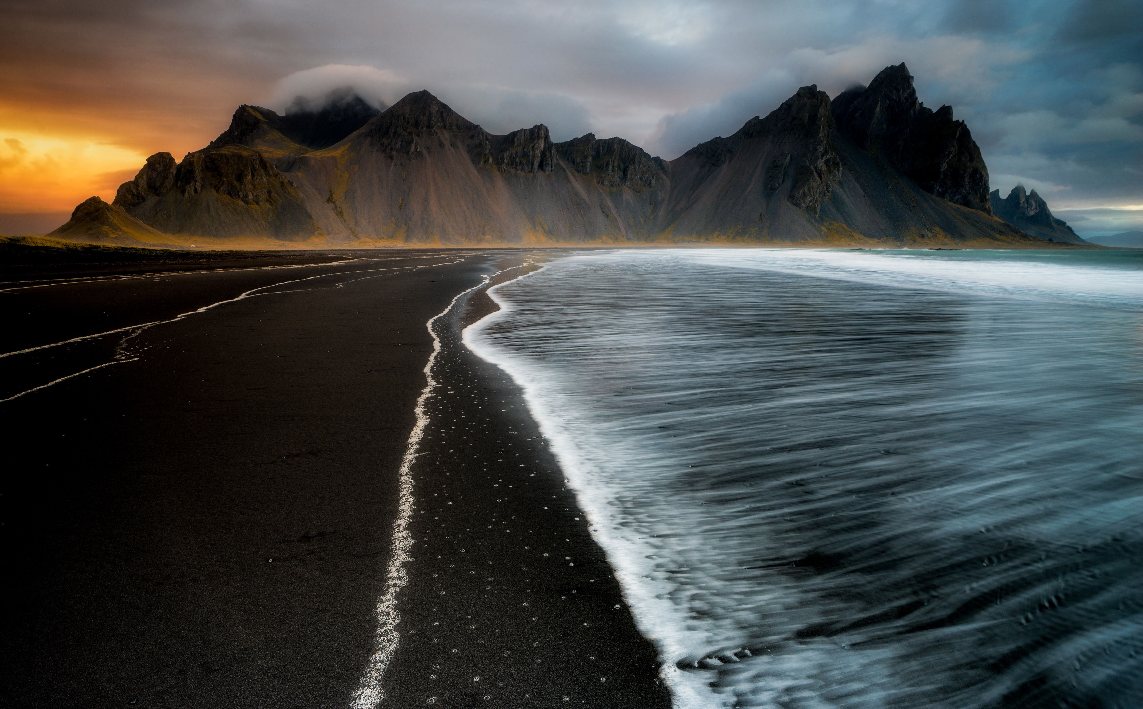 Black Sand Beach Iceland Wallpapers Wallpaper Cave