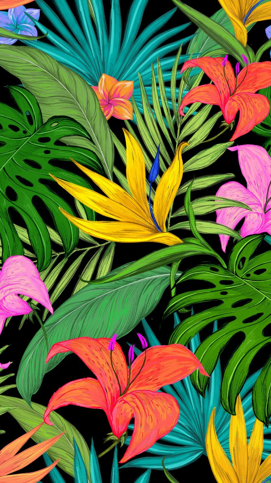 Tropical Leaves Hd Phone Wallpapers Wallpaper Cave Background daun, pattern background with exotic tropical leaves. tropical leaves hd phone wallpapers