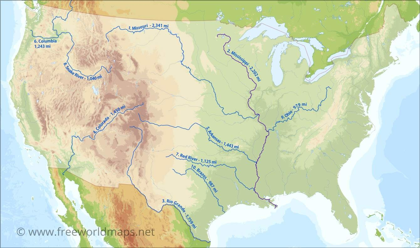 Us Map W Rivers US Map   Wallpaper Cave