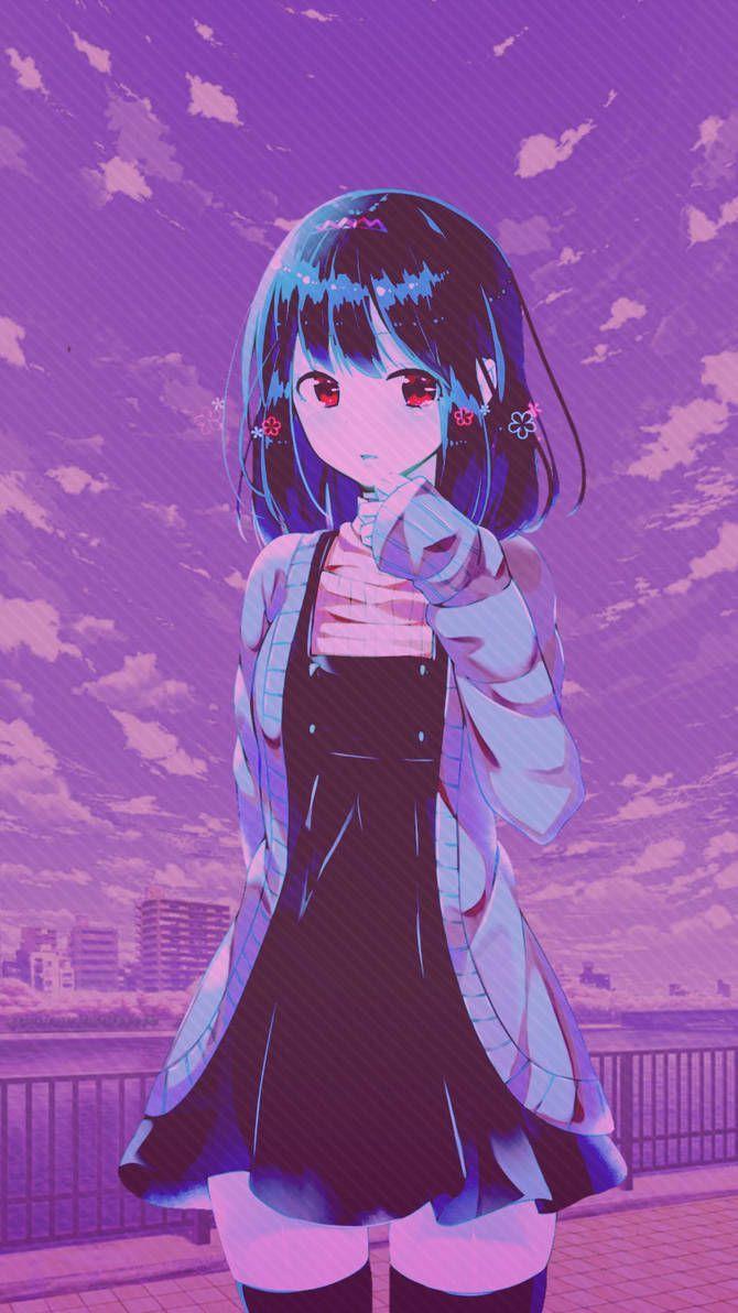 anime purple aesthetic wallpapers