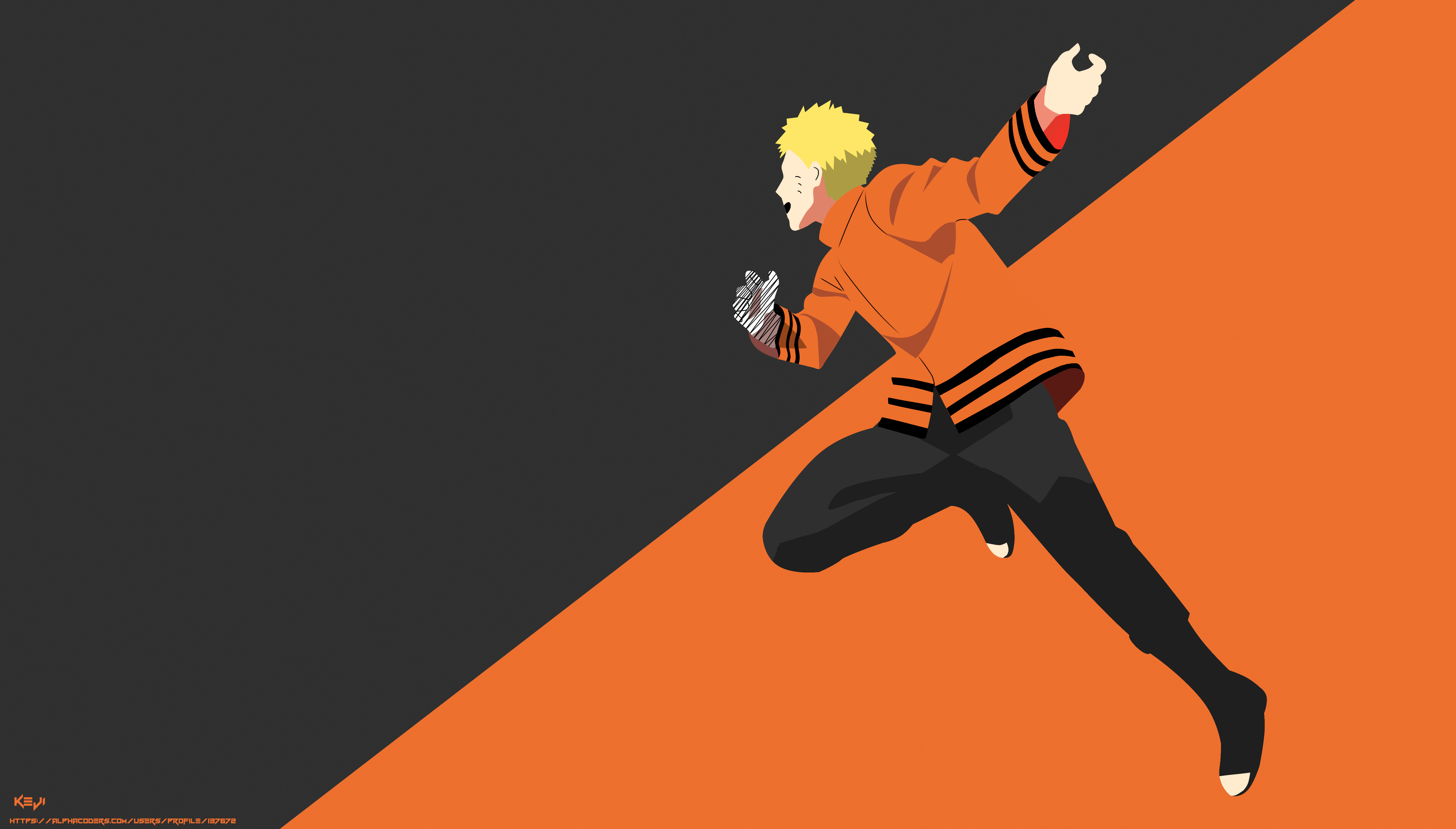 Naruto Uzumaki Minimalist Wallpapers Wallpaper Cave