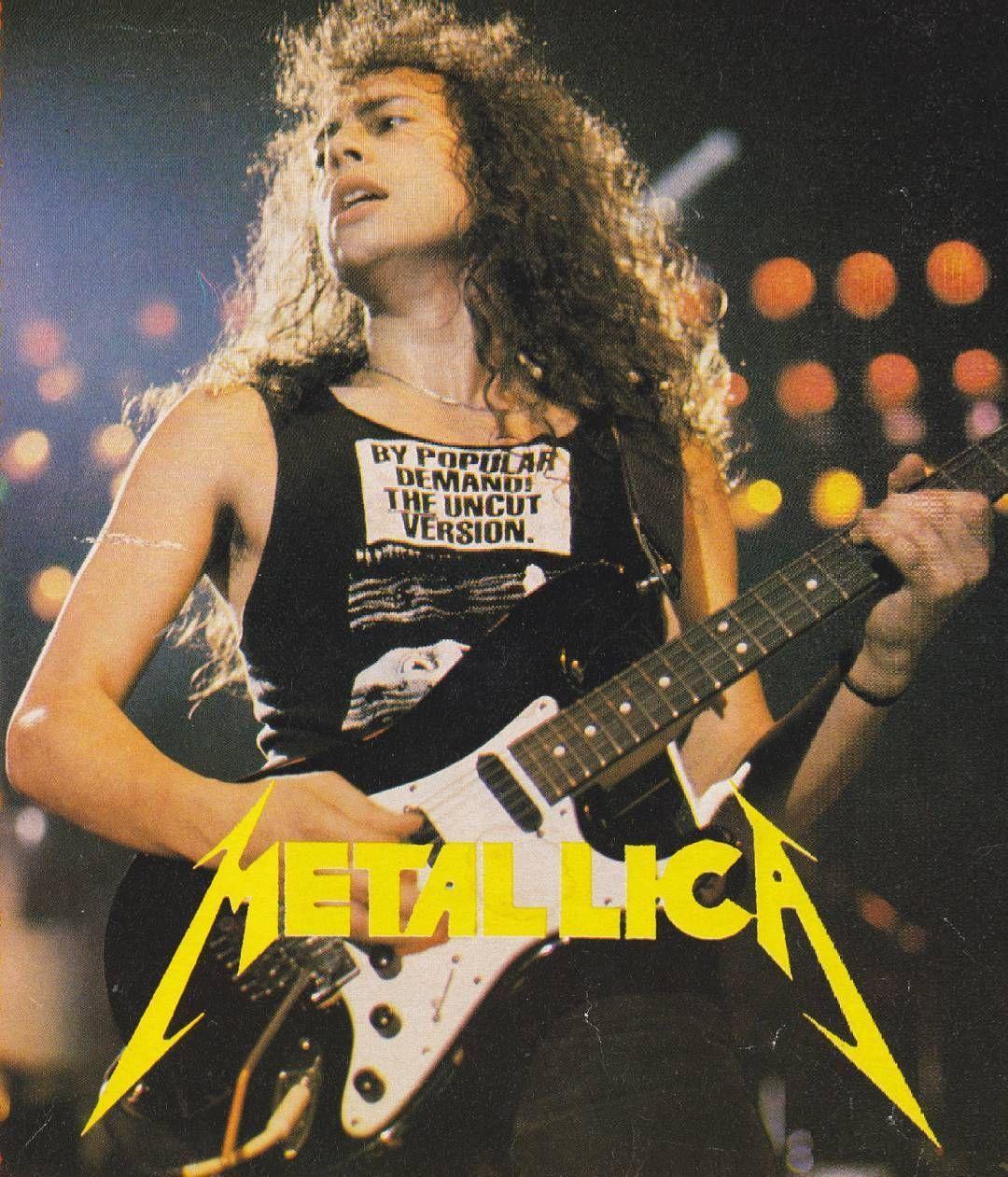 Kirk Hammett 80s Phone Wallpapers