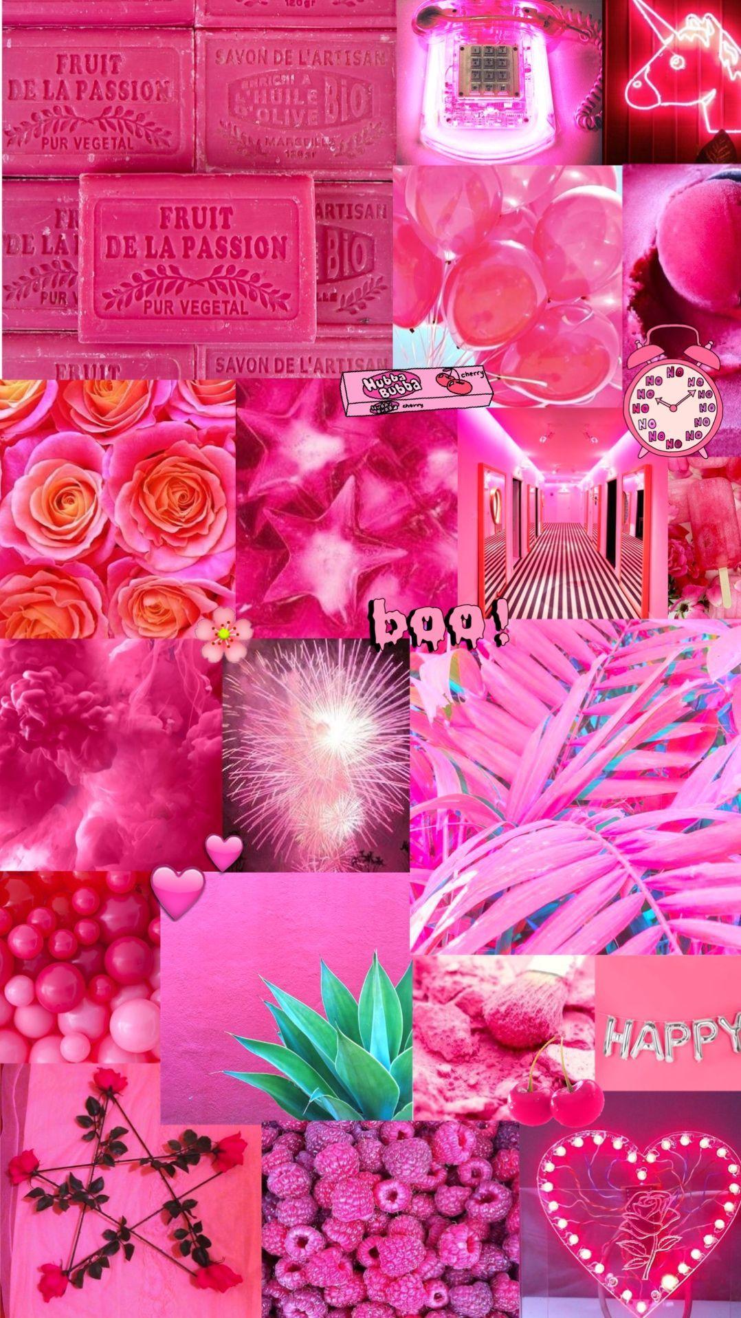 Hot Pink Aesthetic Wallpapers Wallpaper Cave Aesthetics digital wallpaper, vaporwave, kanji, chinese characters. hot pink aesthetic wallpapers