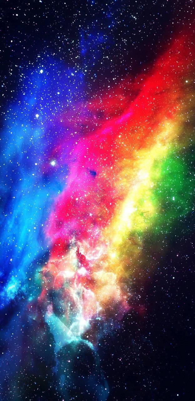 Rainbow Galaxy Wallpapers Wallpaper Cave