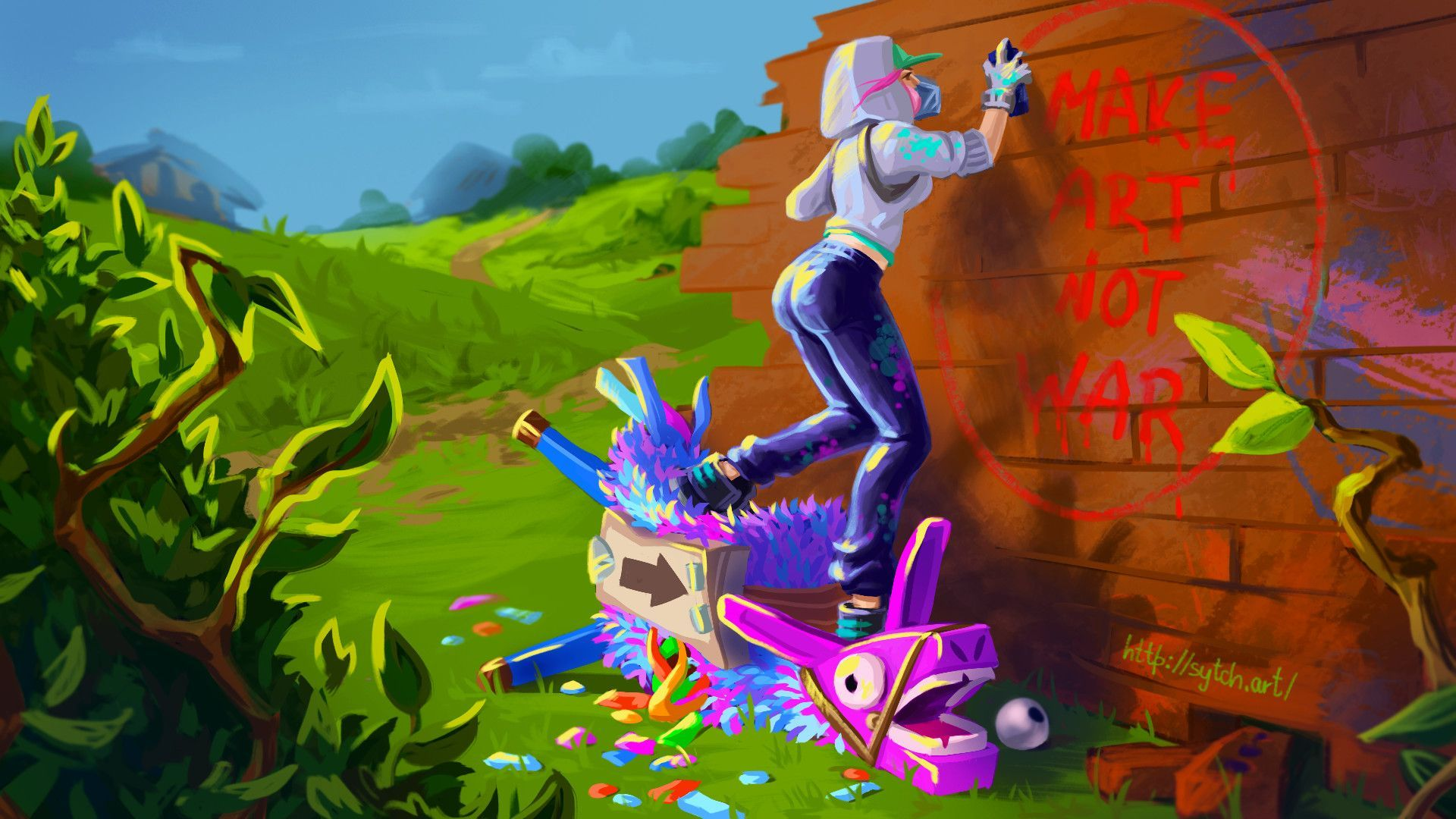Cool Fortnite Llama Desktop Wallpapers Wallpaper Cave