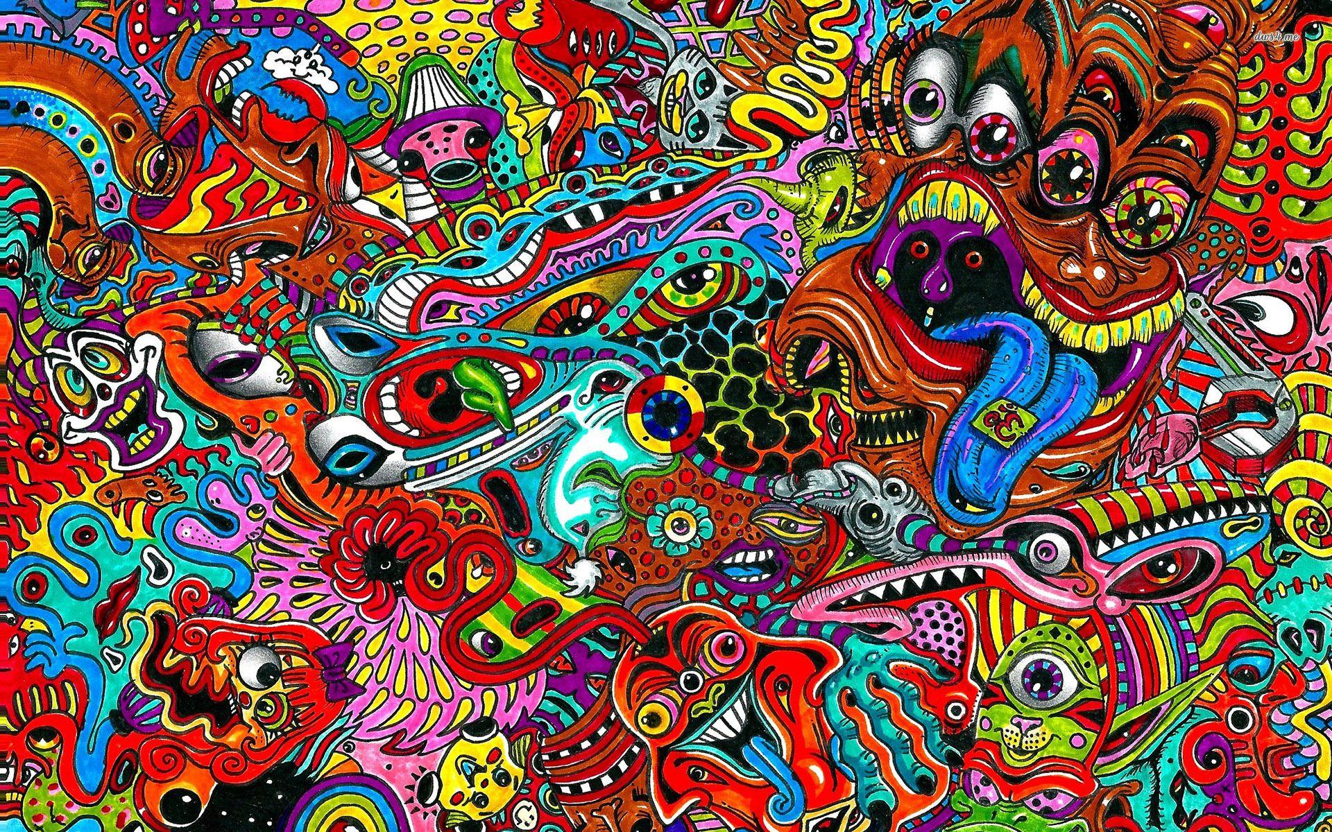 Trippy Cartoon Desktop Wallpapers - Wallpaper Cave