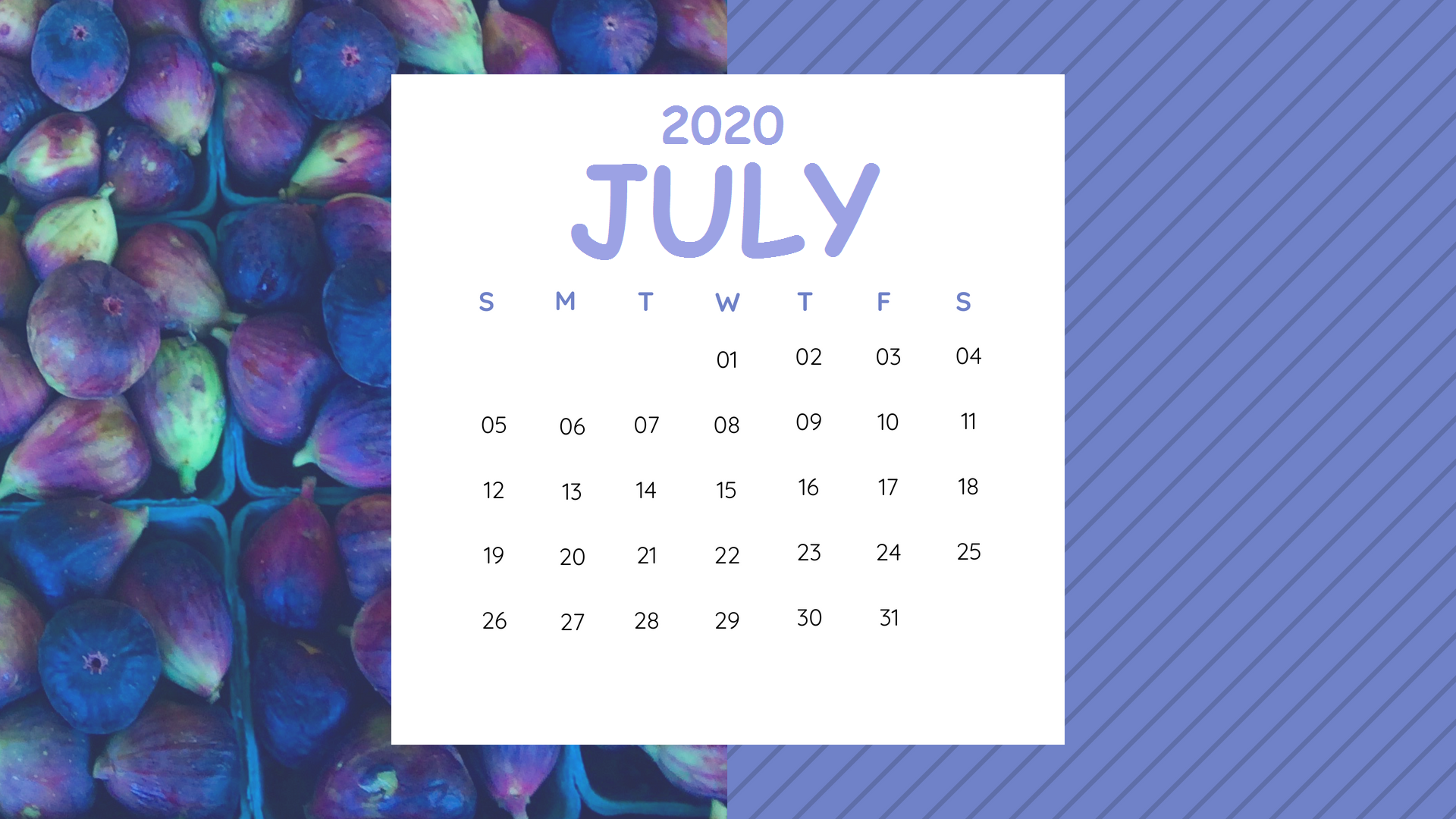 Best Monthly Blank Calendar For July 2020 Printable Template in