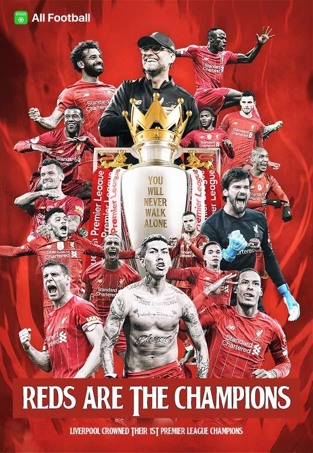 Liverpool Premier League Champions 2020 Wallpapers Wallpaper Cave