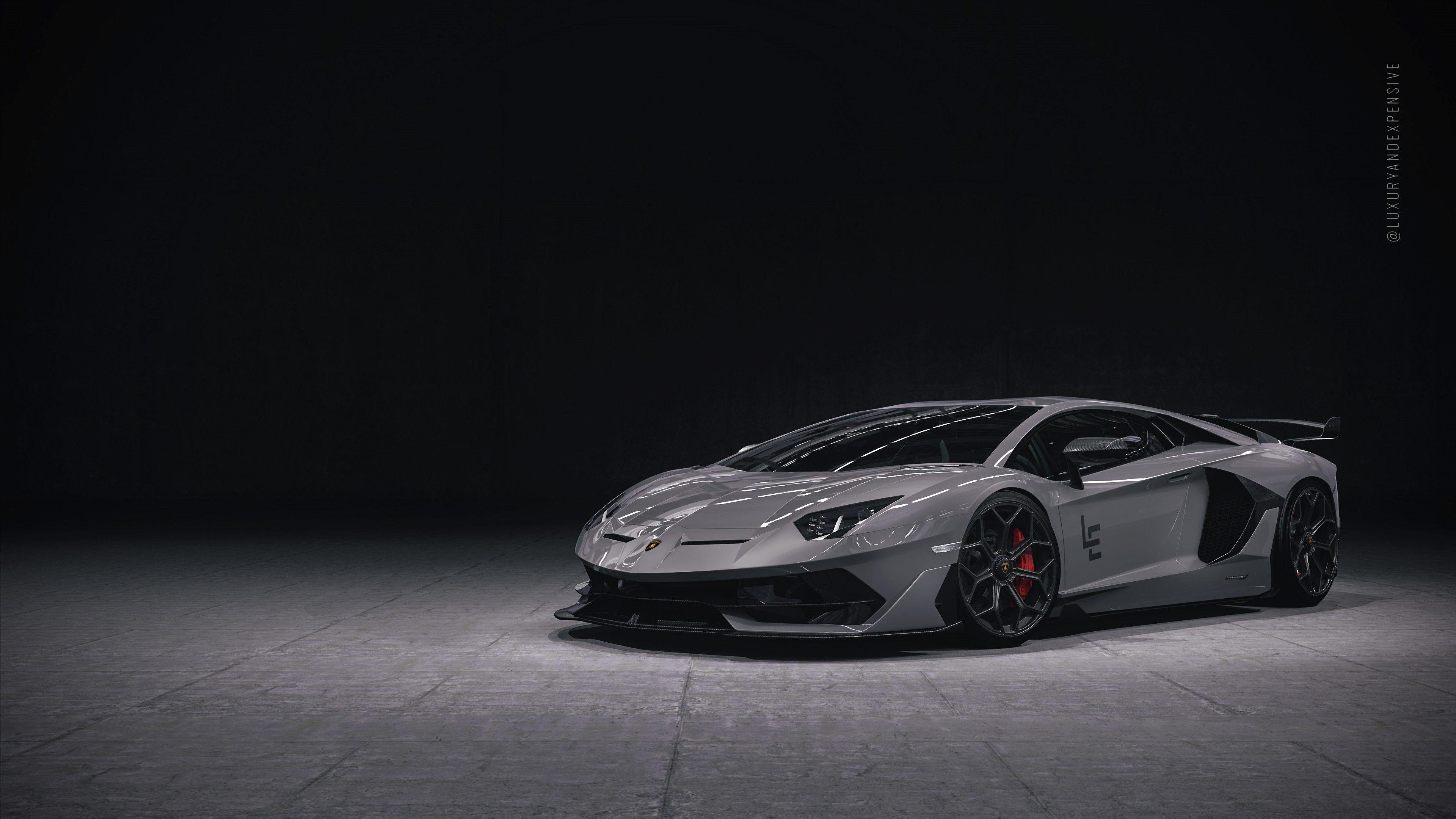 Black Lamborghini Aventador 4K HD Wallpapers - Wallpaper Cave