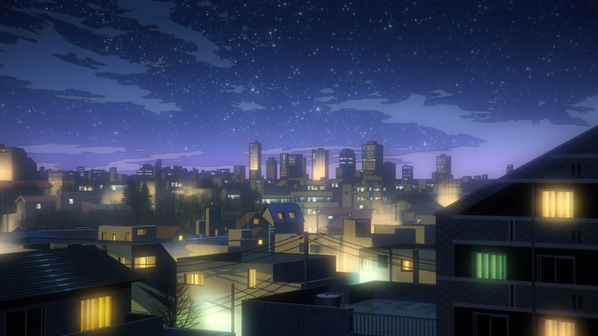 Anime City Purple Wallpapers - Wallpaper Cave