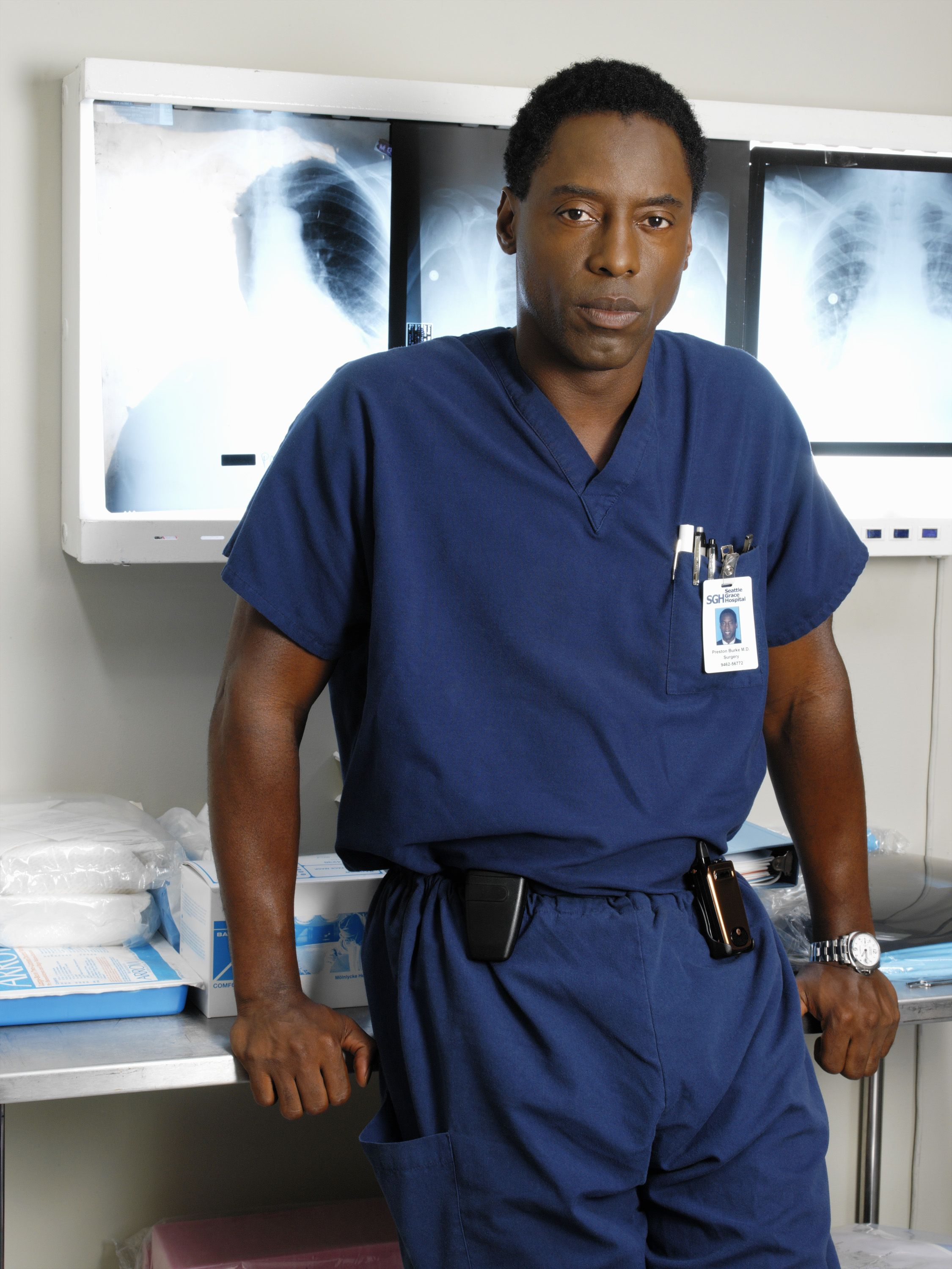Isaiah Washington BKA Dr.Preston Burke from Grey's Anatomy! love