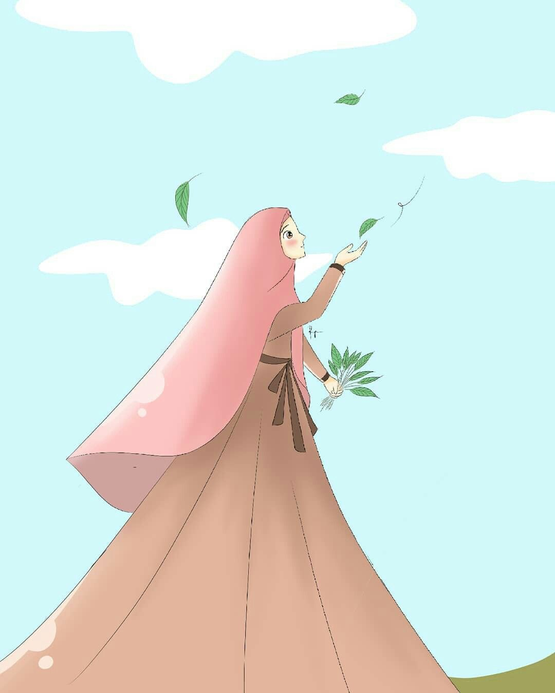Wallpapers Muslimah: Cute Muslimah Girl Cartoon Wallpapers