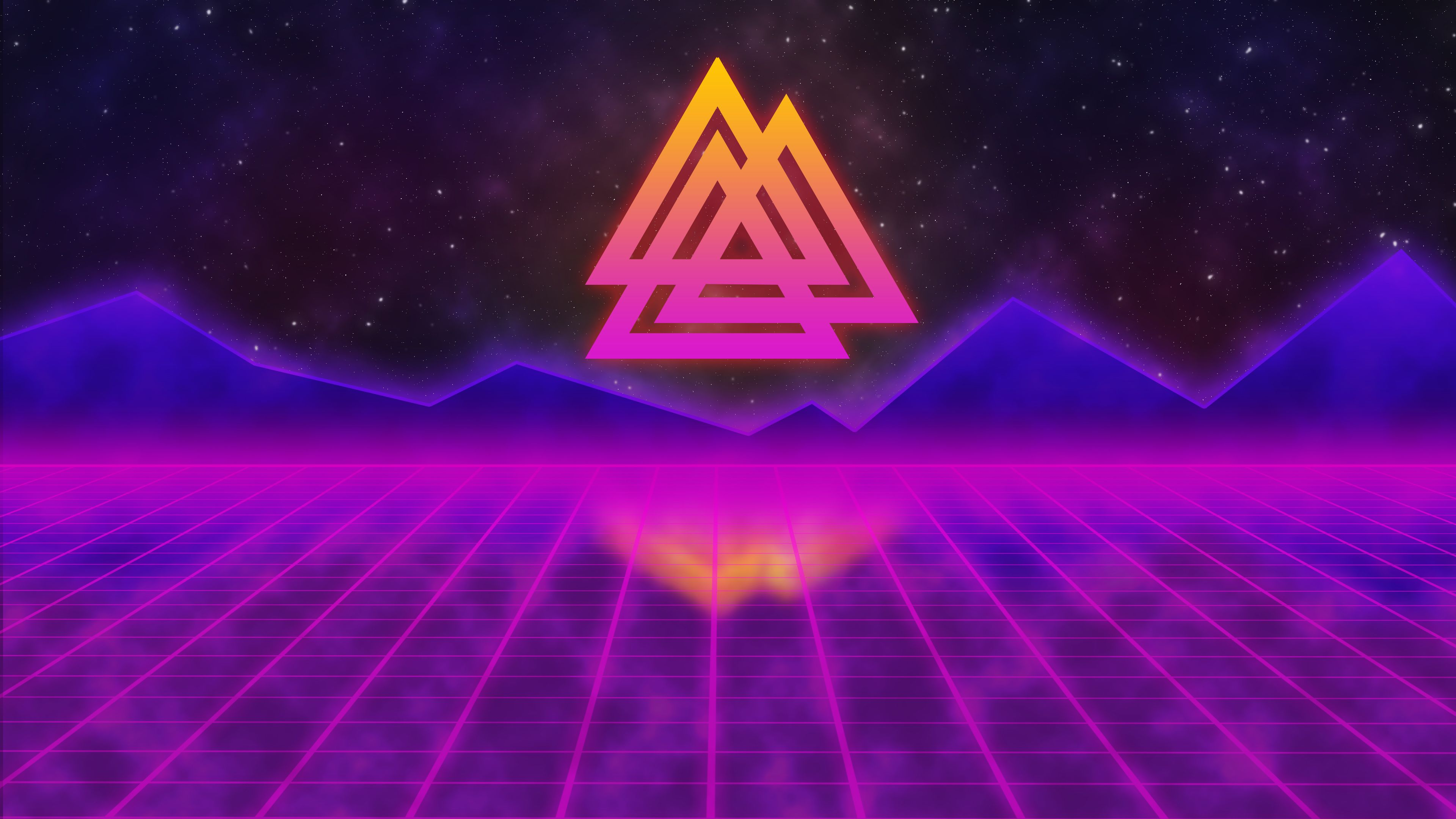 4k Retro Synthwave Purple Wallpapers - Wallpaper Cave