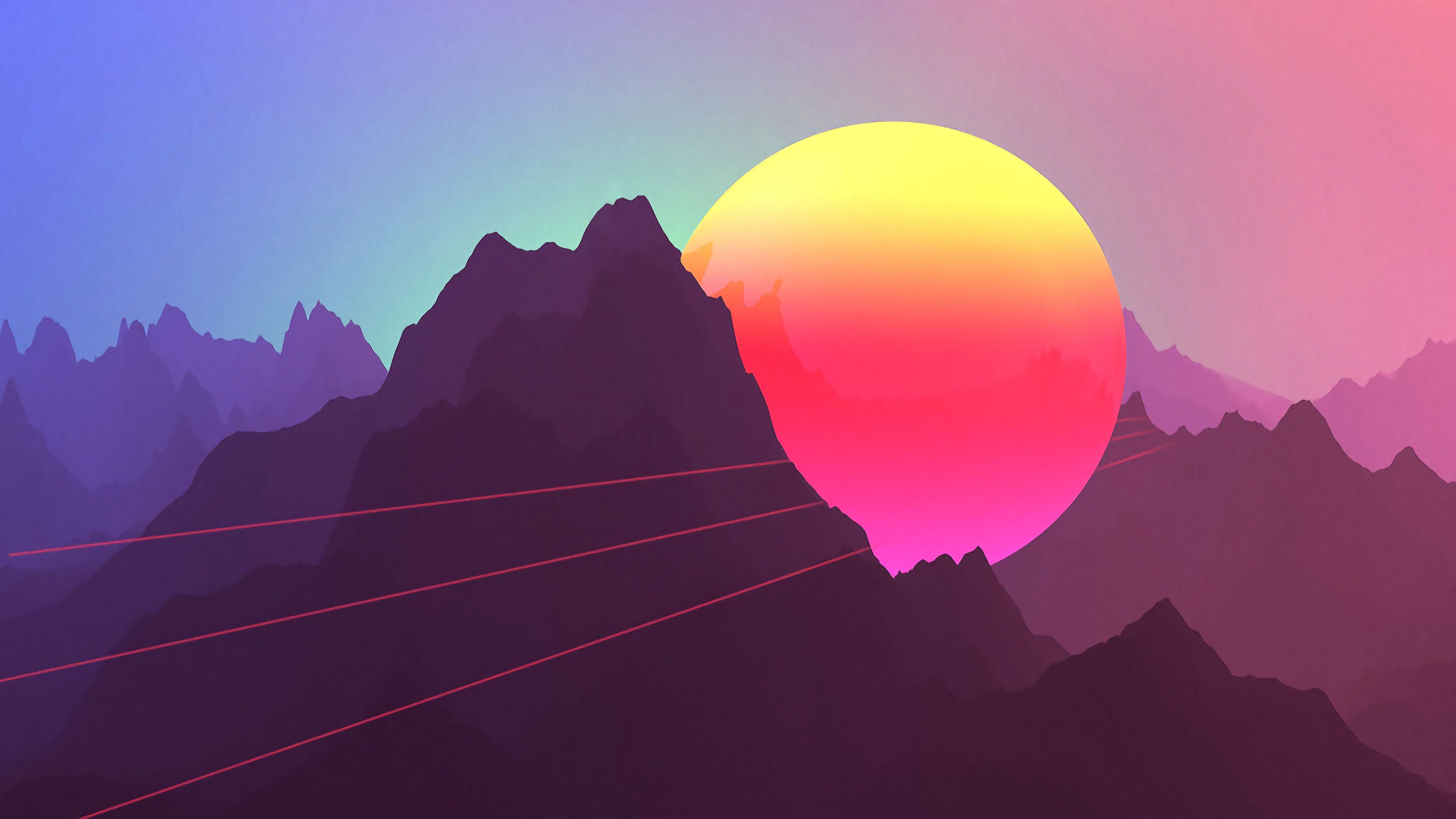 4k Retro Synthwave Purple Wallpapers Wallpaper Cave