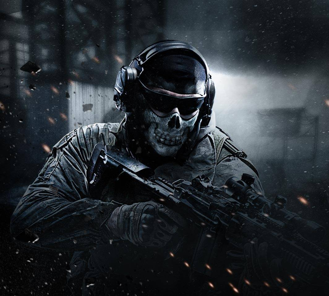 call of duty wallpaper ghost riley