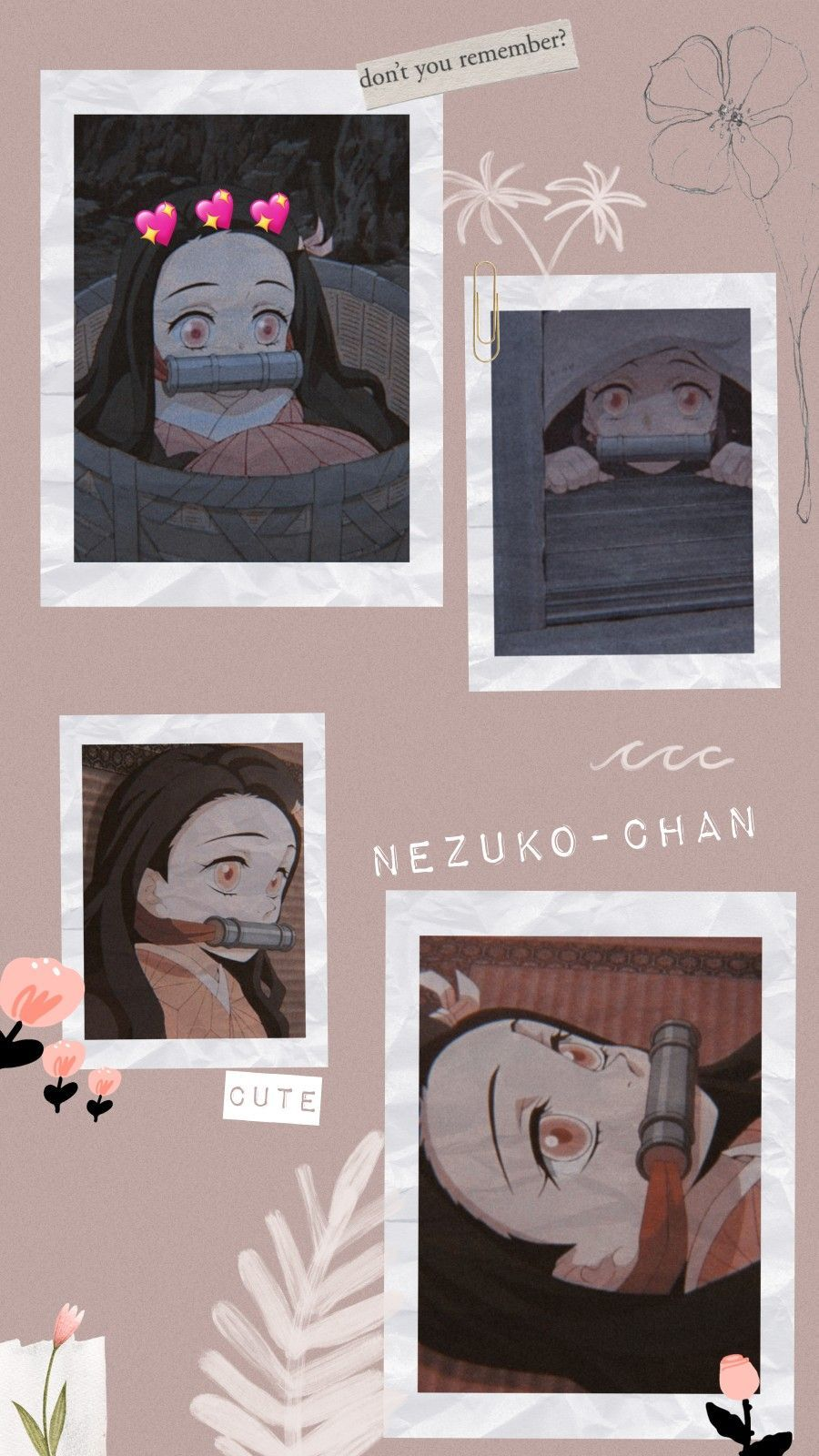 aesthetic nezuko wallpapers