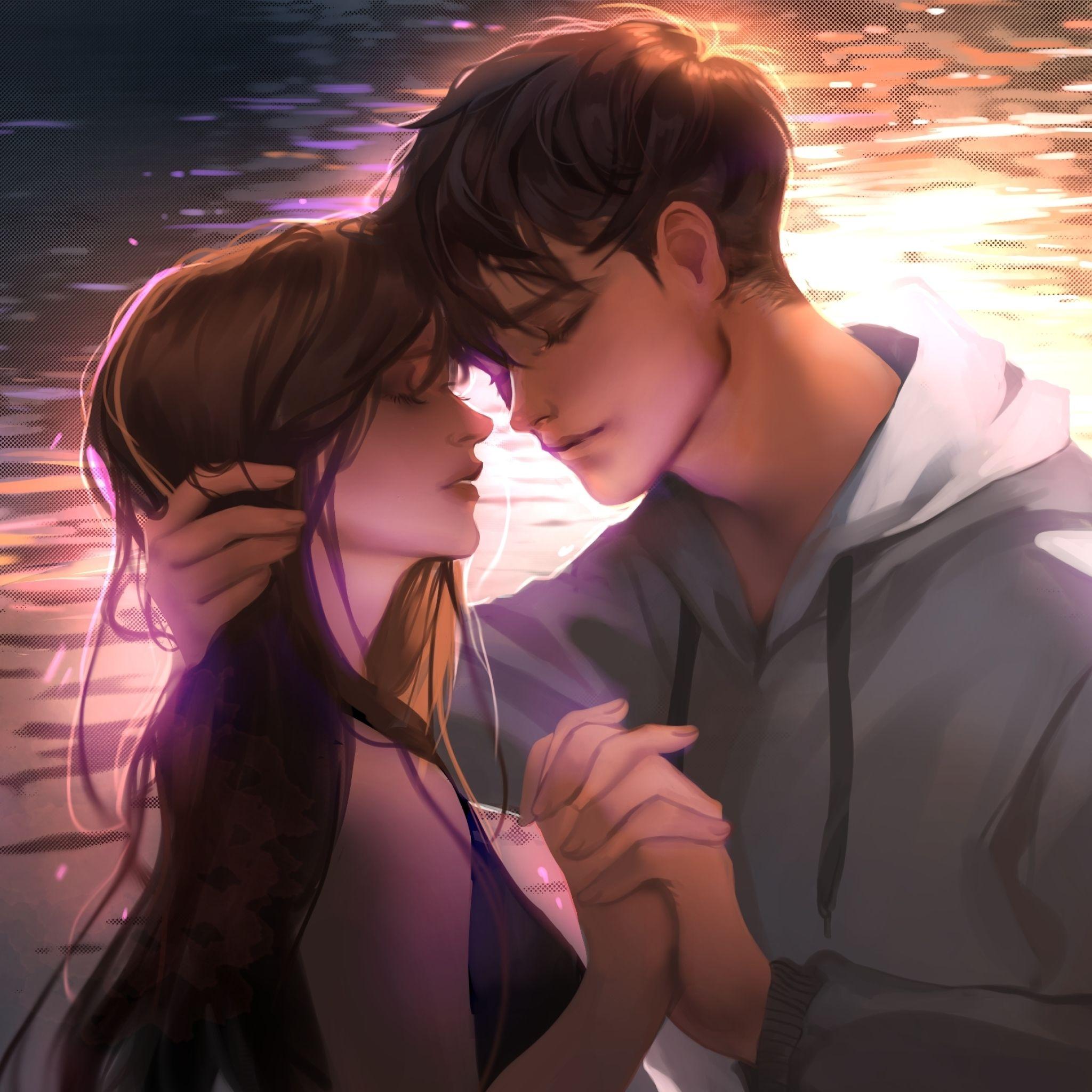 Anime Romance Kiss Wallpapers - Wallpaper Cave