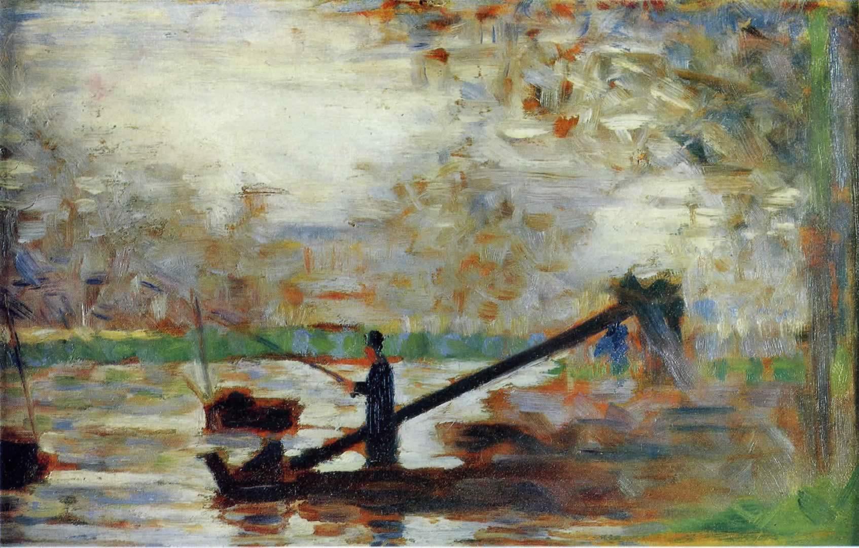 The Island Of La Grande Jatte - Georges Seurat Wallpaper Image