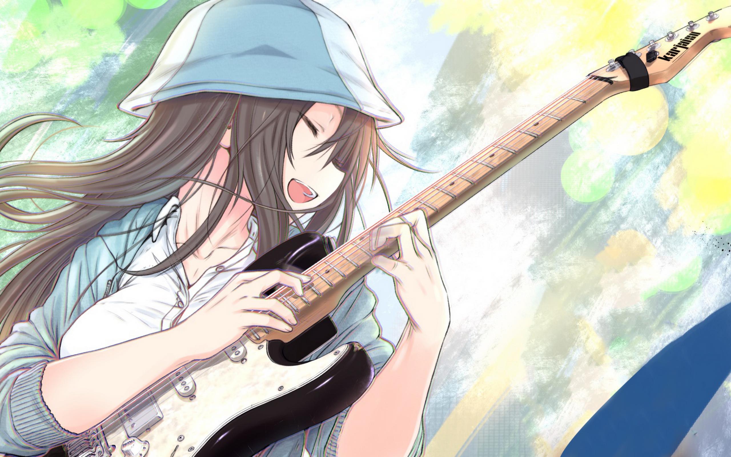Guitar Anime Girl Wallpapers - Wallpaper Cave