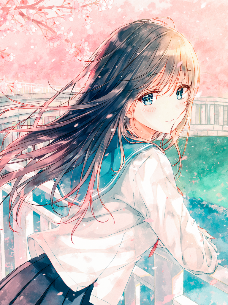 Cute And Beautiful Anime Girl Uniform Wallpapers Wallpaper Cave