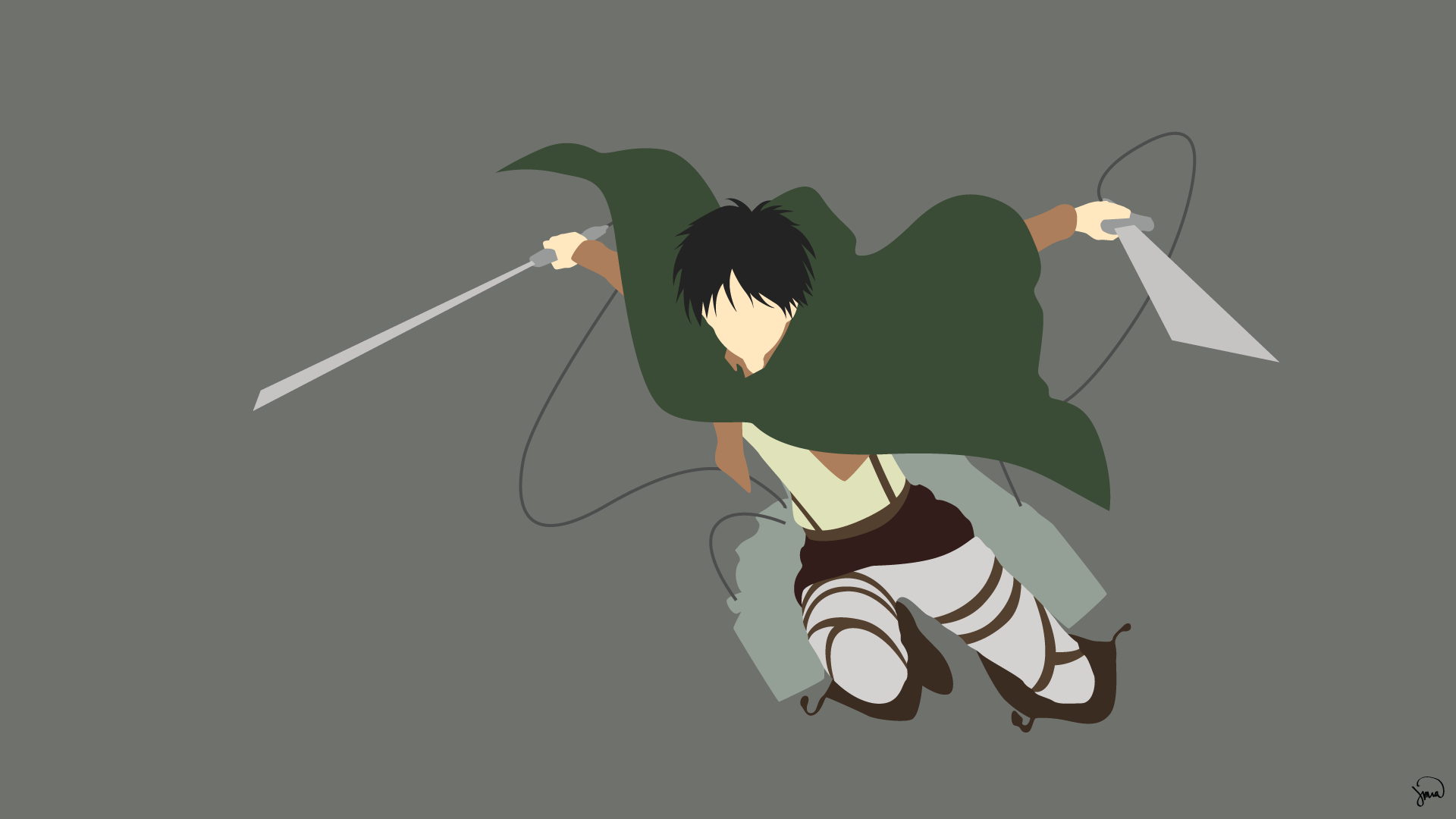 Attack On Titan Minimalist PC Wallpapers - Wallpaper Cave