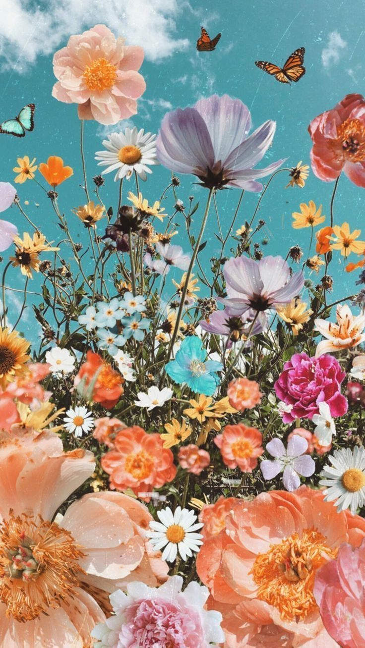 Aesthetic Spring 3D Flower iPhone Wallpapers - Wallpaper Cave